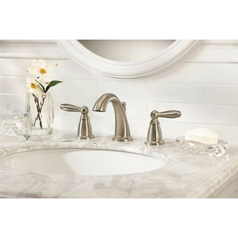 Shop Moen Brantford Two-handle Brushed Nickel Bathroom Faucet ...