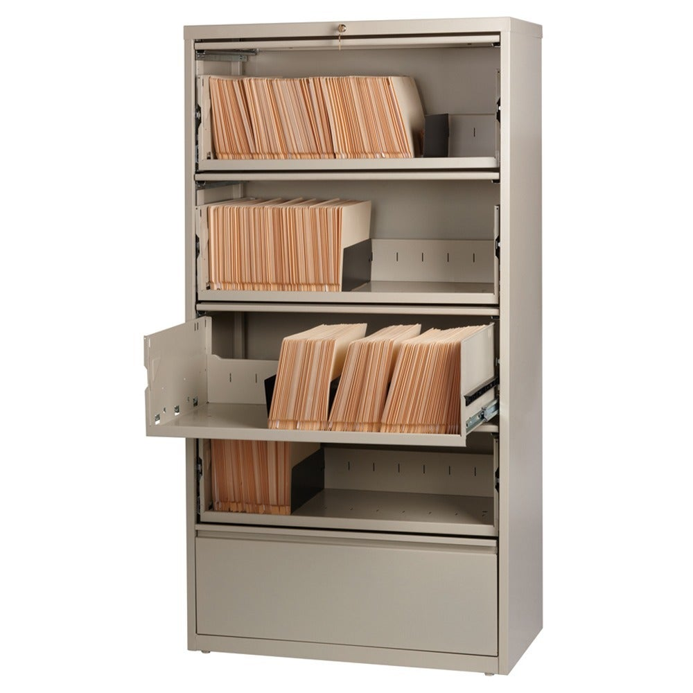 Hirsh 36-inch 5-drawer Lateral with Roll-out Shelves - Free Shipping Today  - Overstock.com - 14189510