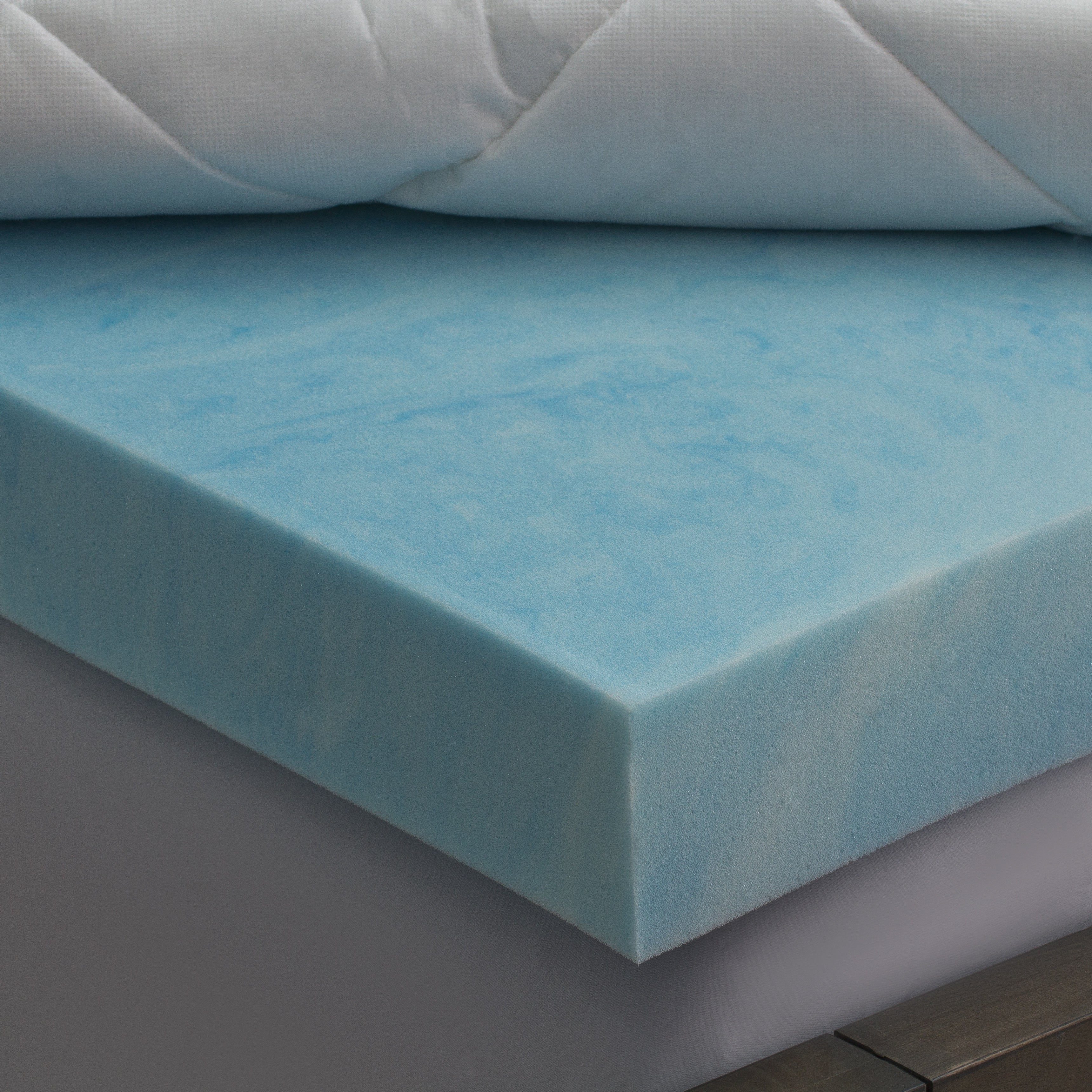 deluxe fiber foam cotton bath today mattress and overstock inch free topper blend product bedding memory shipping swisslux