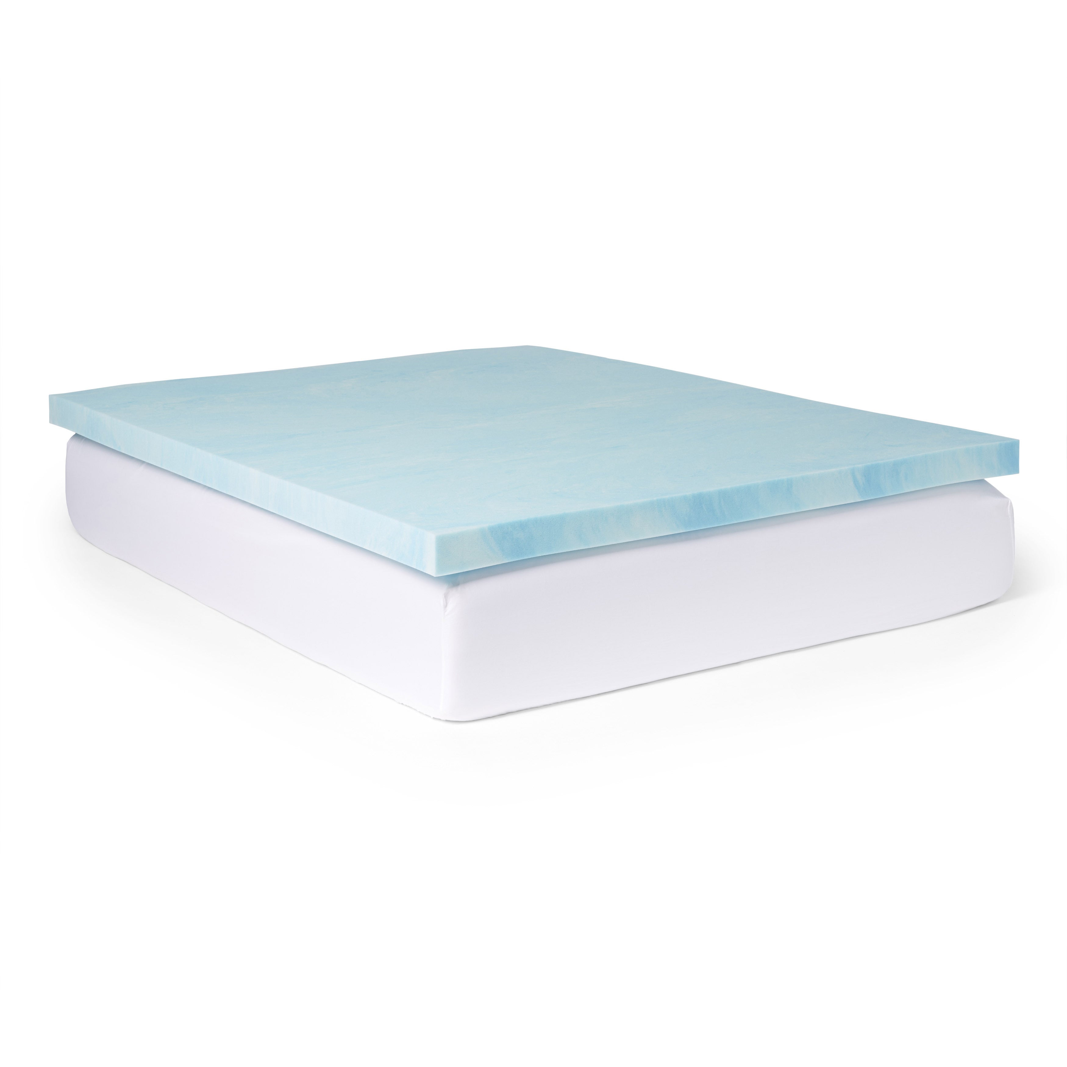 bedding free overstock slumber memory shipping bath product fiber foam today inch and mattress solutions topper