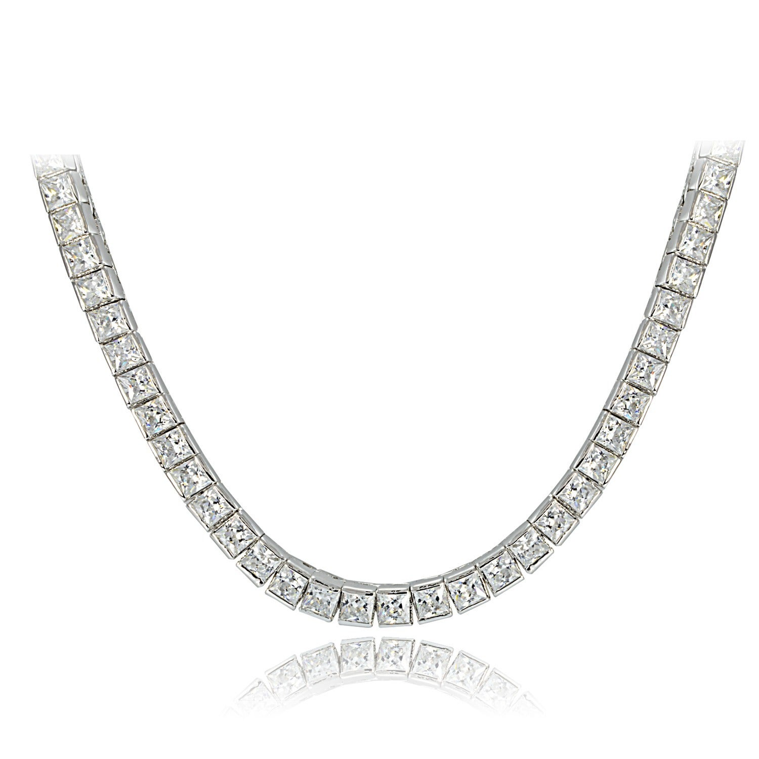 pendant solitaire products princess necklace in gold mirabess diamond bail white pendent double cut