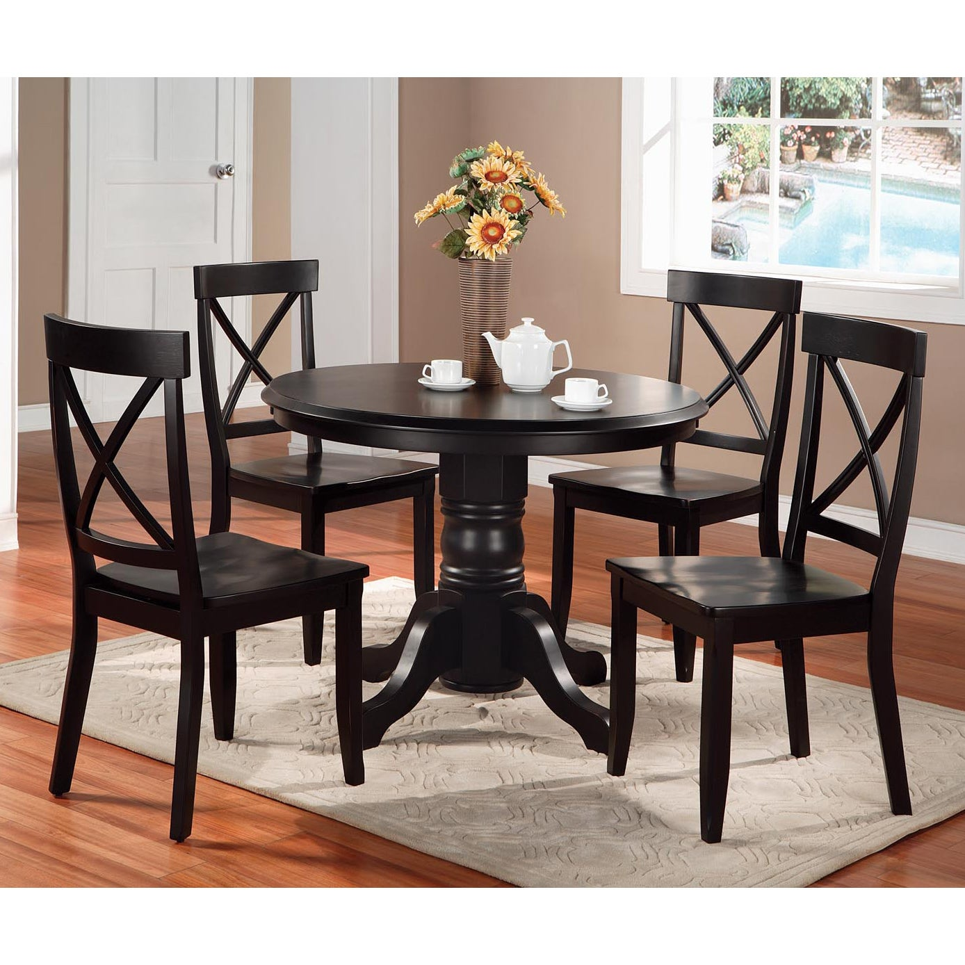 Shop Black 5 Piece Dining Furniture Set By Home Styles   On Sale   Free  Shipping Today   Overstock.com   6626642