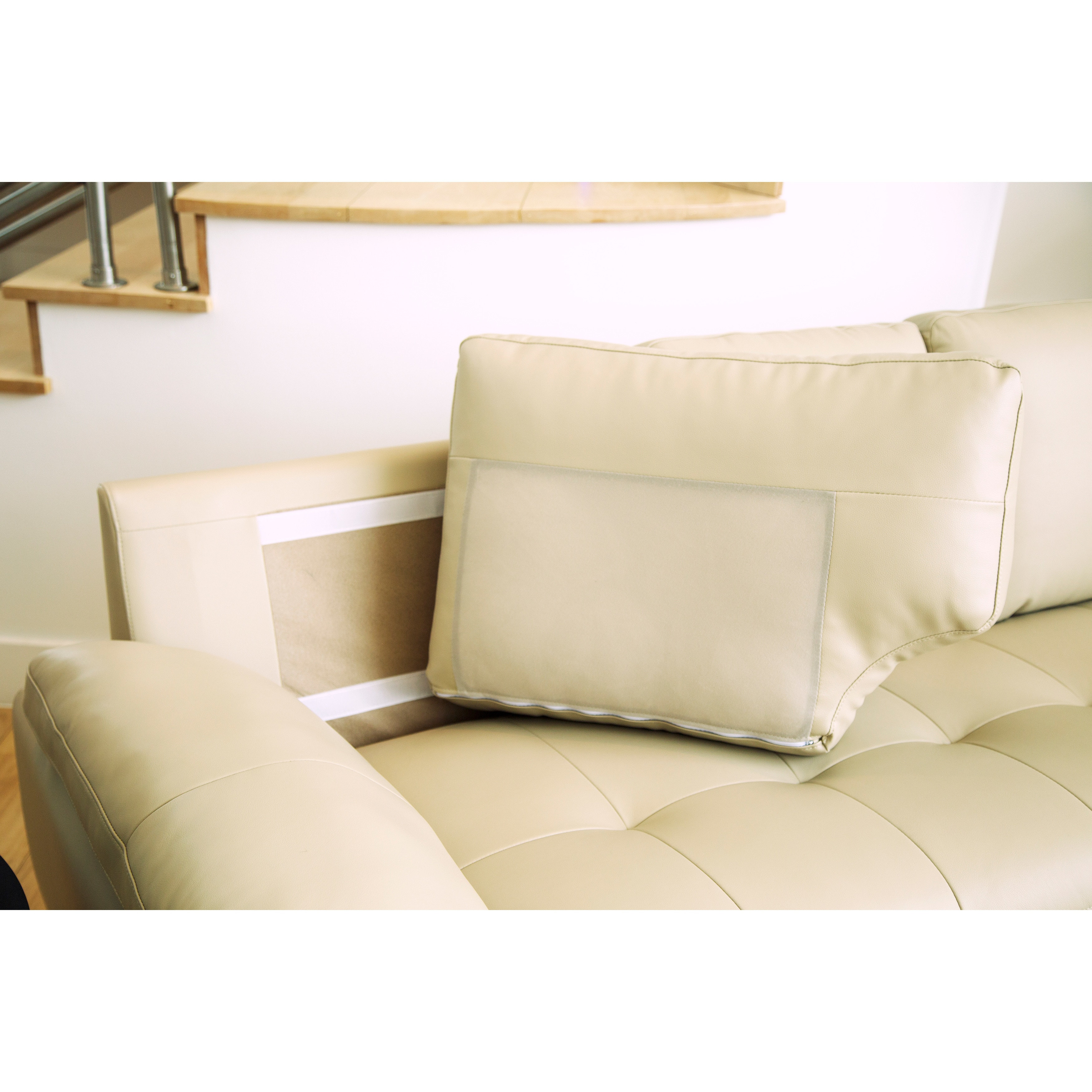 sectional armless price chair lowest button tufted with room living sofa roy ac