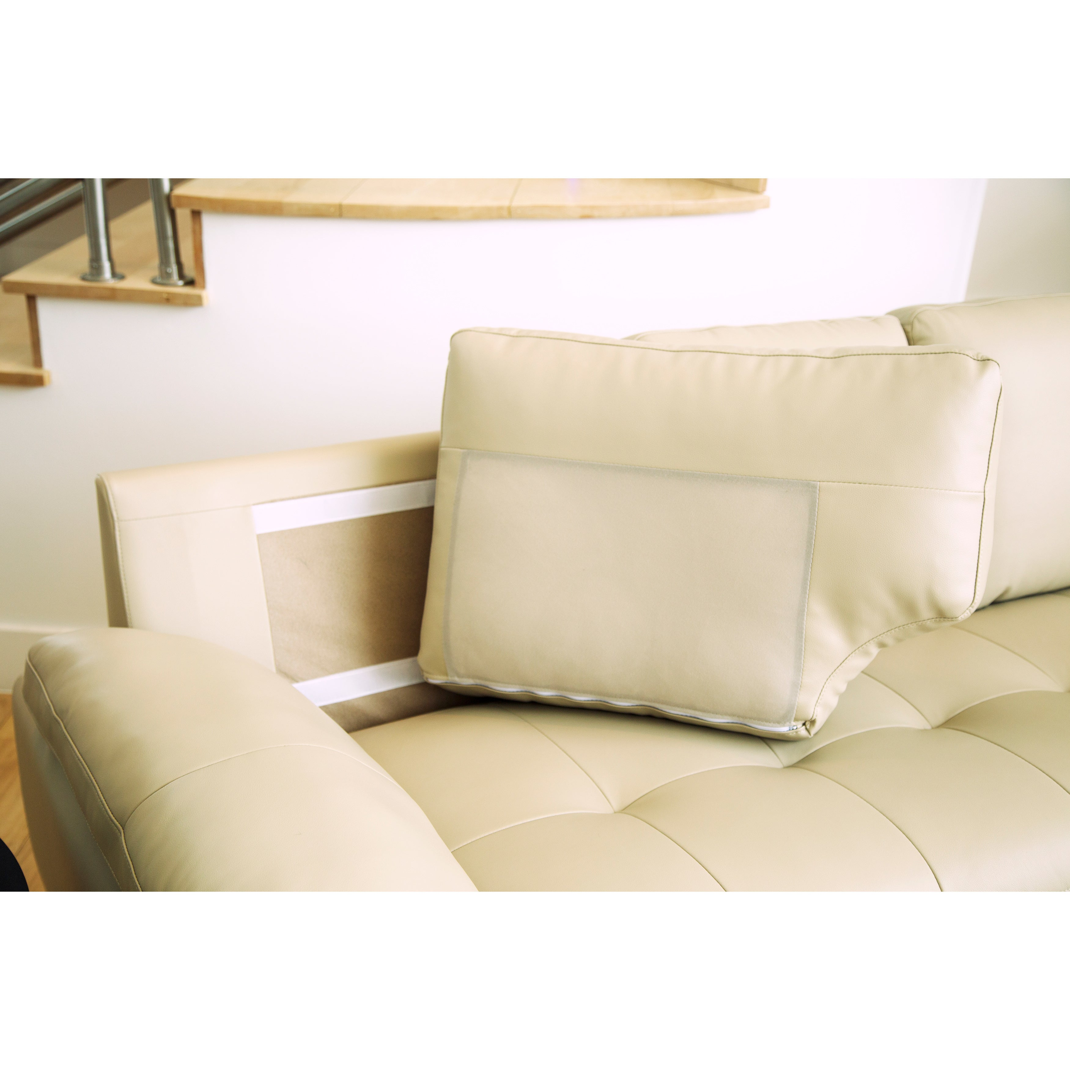 image sofa tufted of featured chaise sectional sleeper ideas photos for