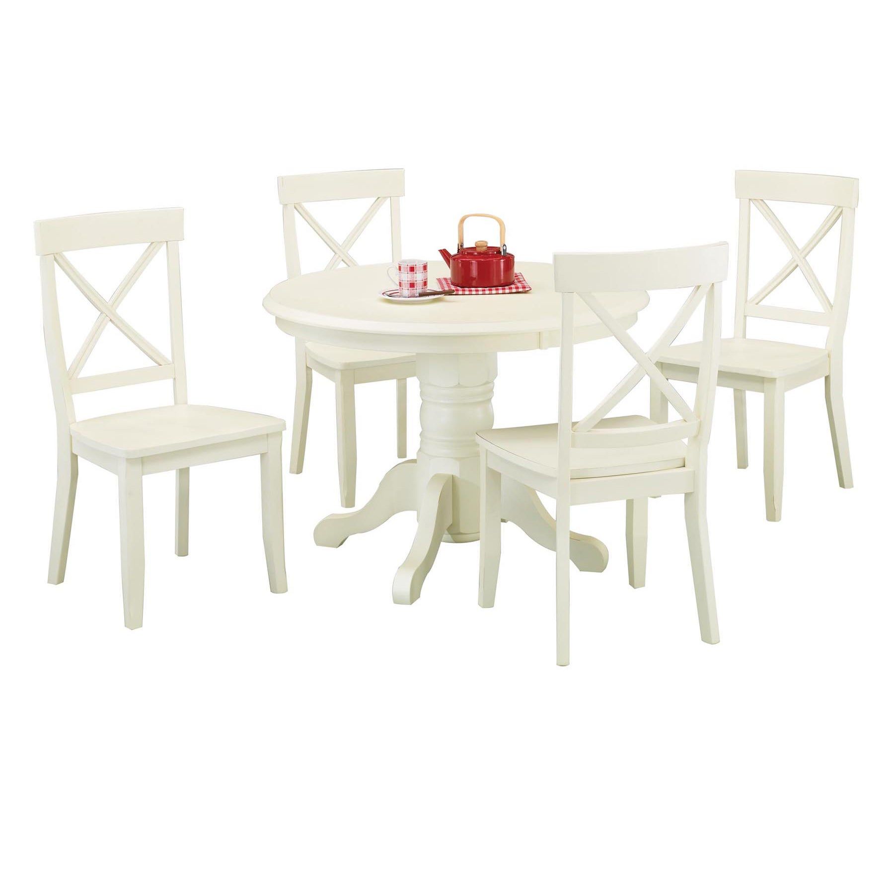 White 5 Piece Dining Furniture Set By Home Styles Free Shipping Today 6626650