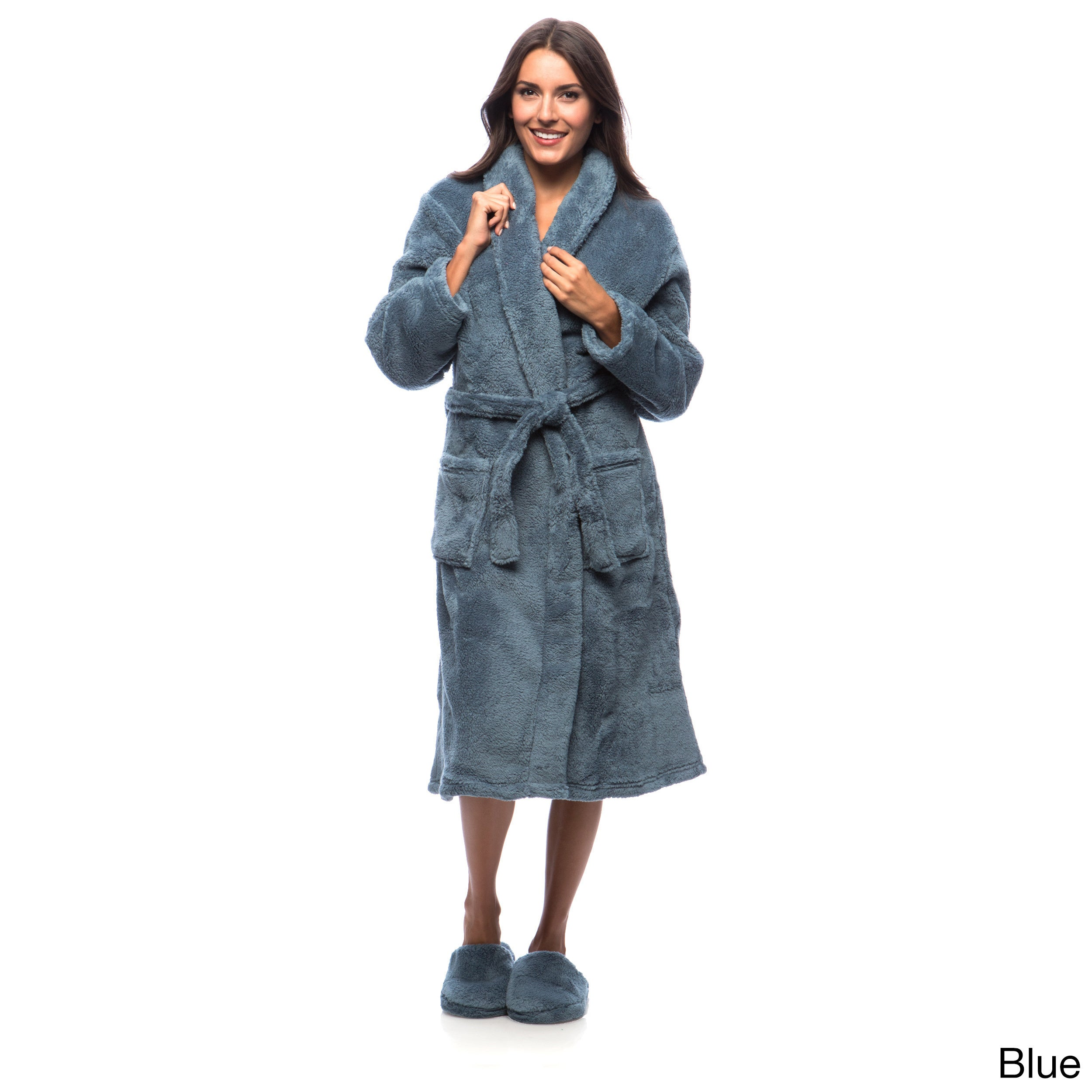 9555255582 Shop Ultrasoft Plush Bathrobe and Slipper Set - Free Shipping Today -  Overstock - 6627265