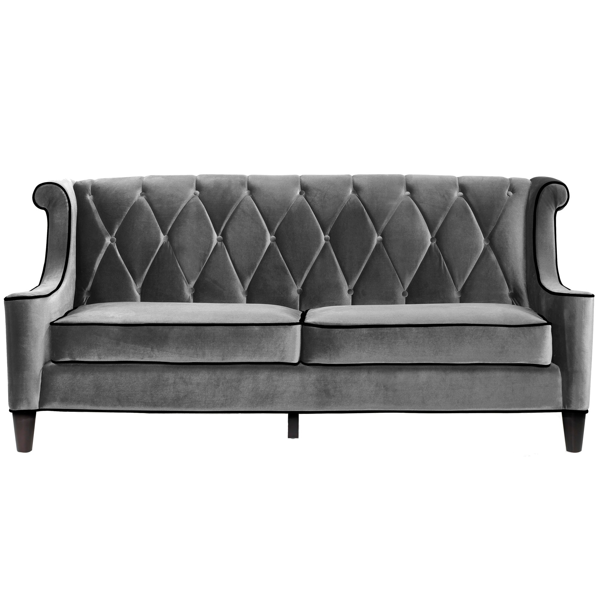 Charmant Shop Armen Living Barrister Modern Grey Velvet Sofa   Free Shipping Today    Overstock.com   6629457