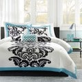Mi Zone Santorini Teal 4-piece Duvet Cover Set