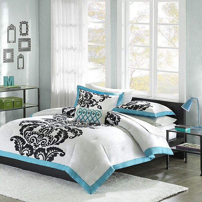 Mi Zone Santorini Teal Comforter Set - Free Shipping Today ...