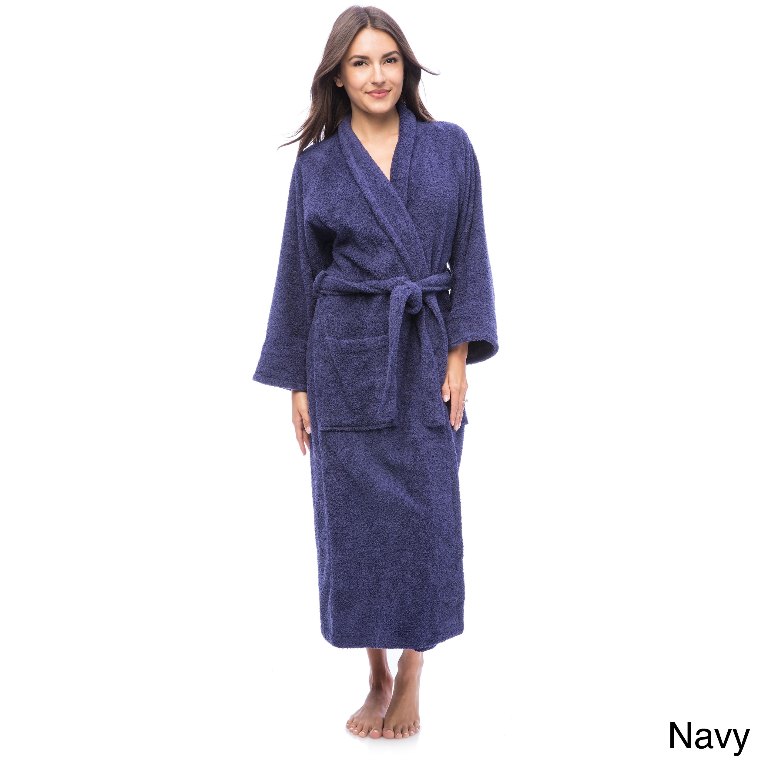 7d20adbf96 Shop Superior Luxurious 100-percent Combed Cotton Unisex Terry Bath Robe -  Free Shipping On Orders Over  45 - Overstock - 6632152