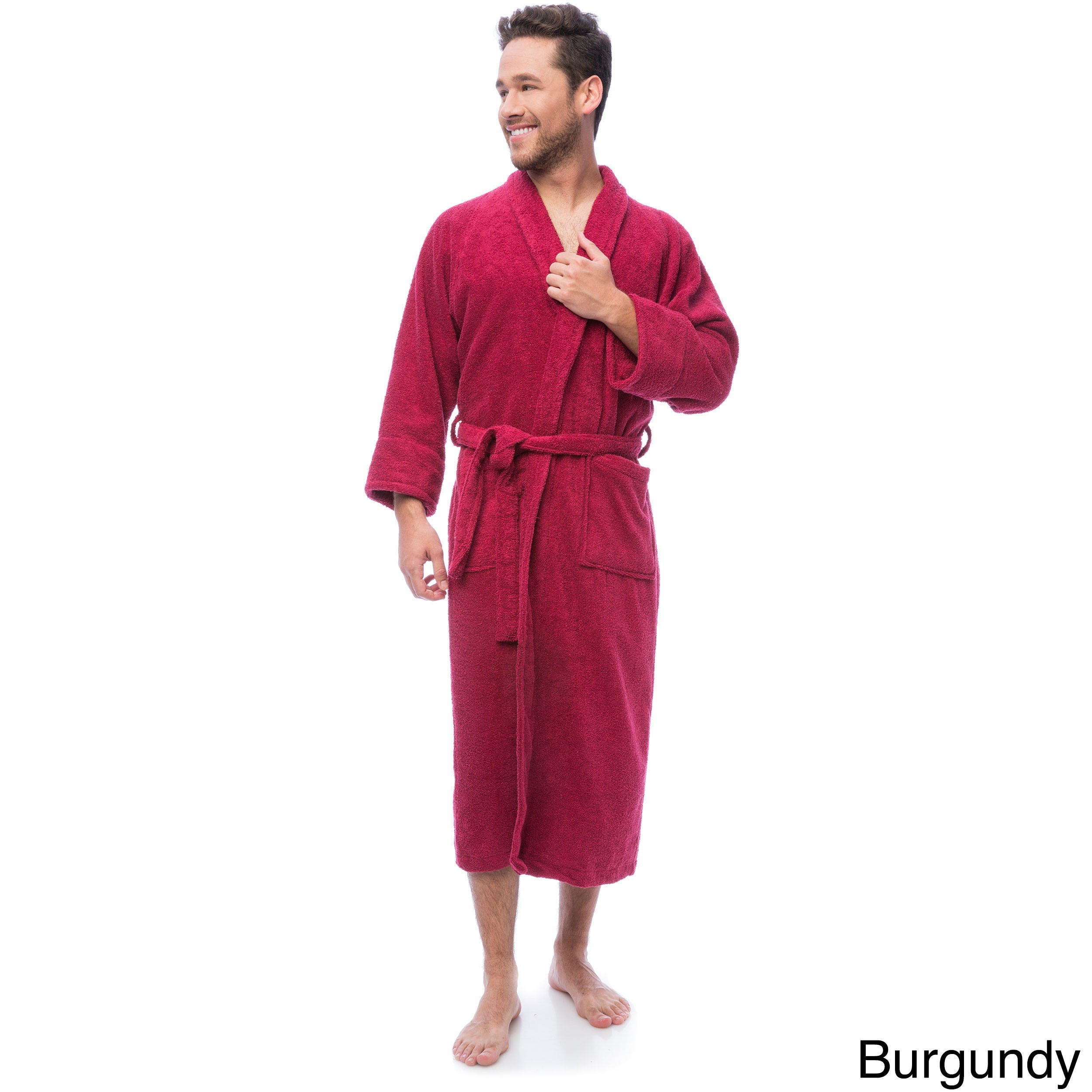 Shop Superior Luxurious 100-percent Combed Cotton Unisex Terry Bath Robe -  Free Shipping On Orders Over  45 - Overstock - 6632152 6a5274285