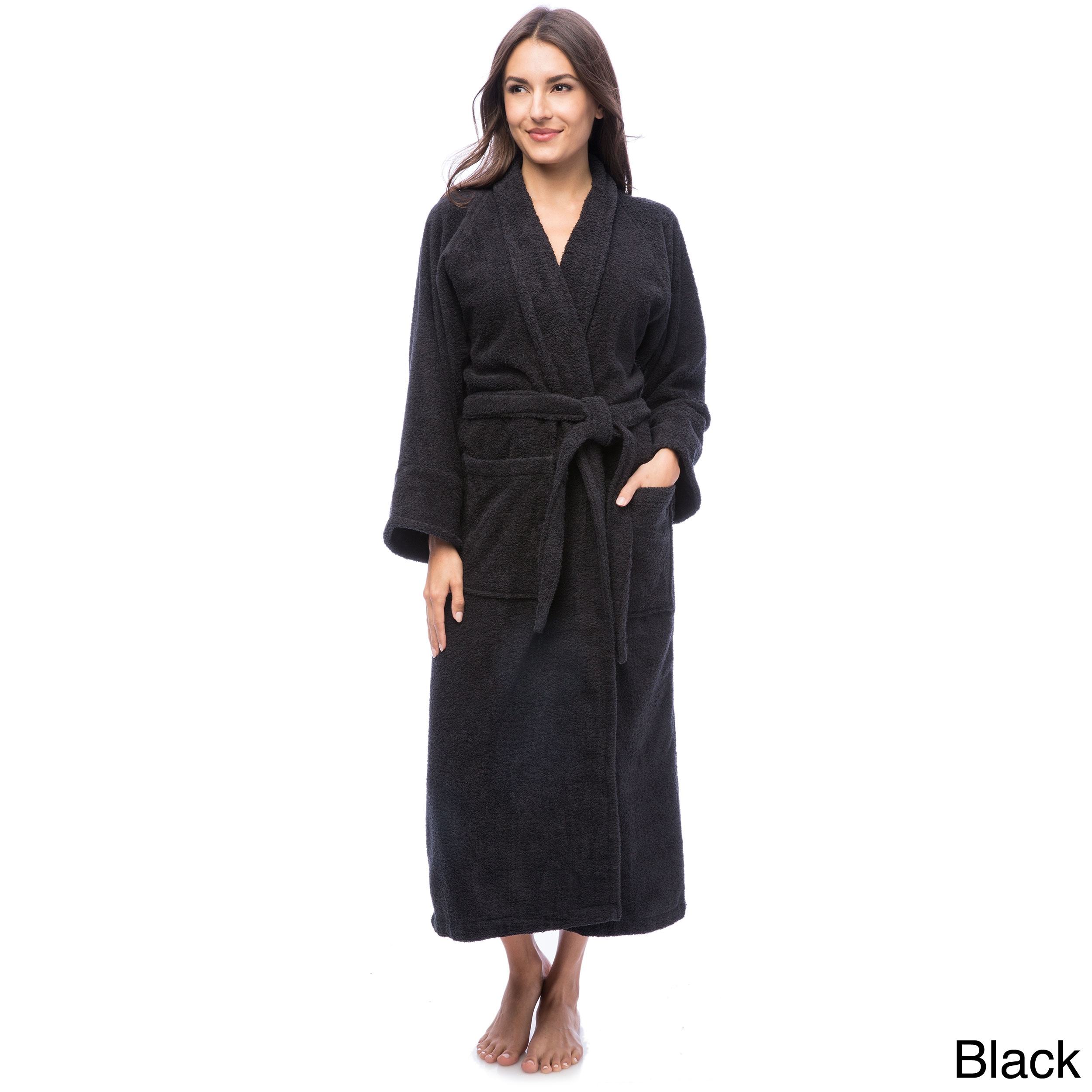 Shop Superior Luxurious 100-percent Combed Cotton Unisex Terry Bath Robe -  On Sale - Free Shipping On Orders Over  45 - Overstock - 6632152 2de33daed