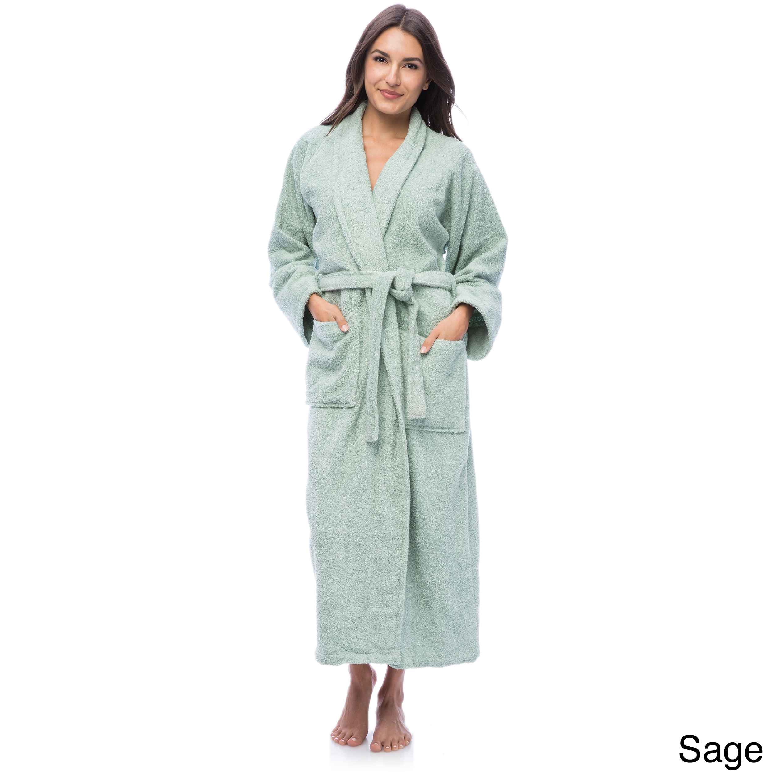 d266efef39 Shop Superior Luxurious 100-percent Combed Cotton Unisex Terry Bath Robe -  Free Shipping On Orders Over  45 - Overstock - 6632152