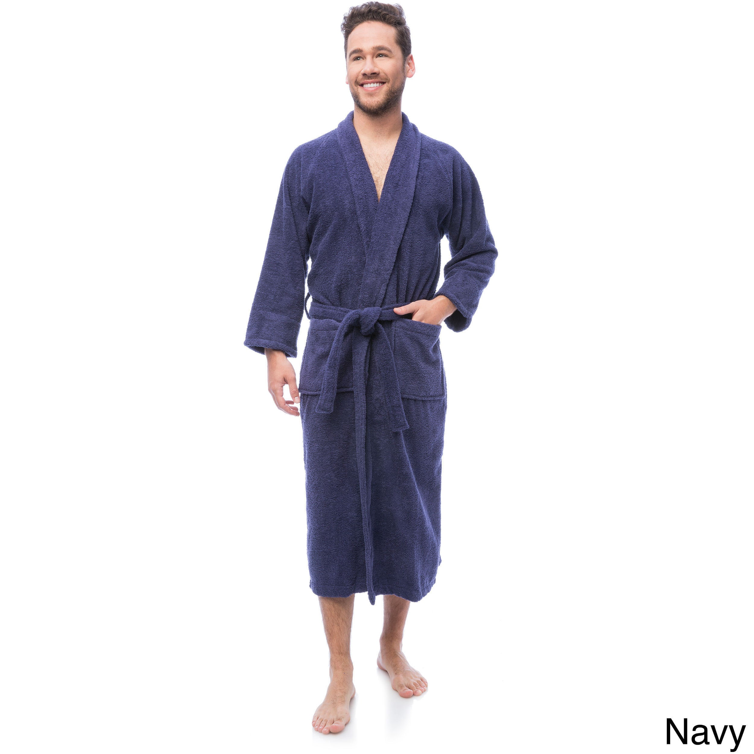 6438f7db4c Shop Superior Luxurious 100-percent Combed Cotton Unisex Terry Bath Robe -  Free Shipping On Orders Over  45 - Overstock - 6632152