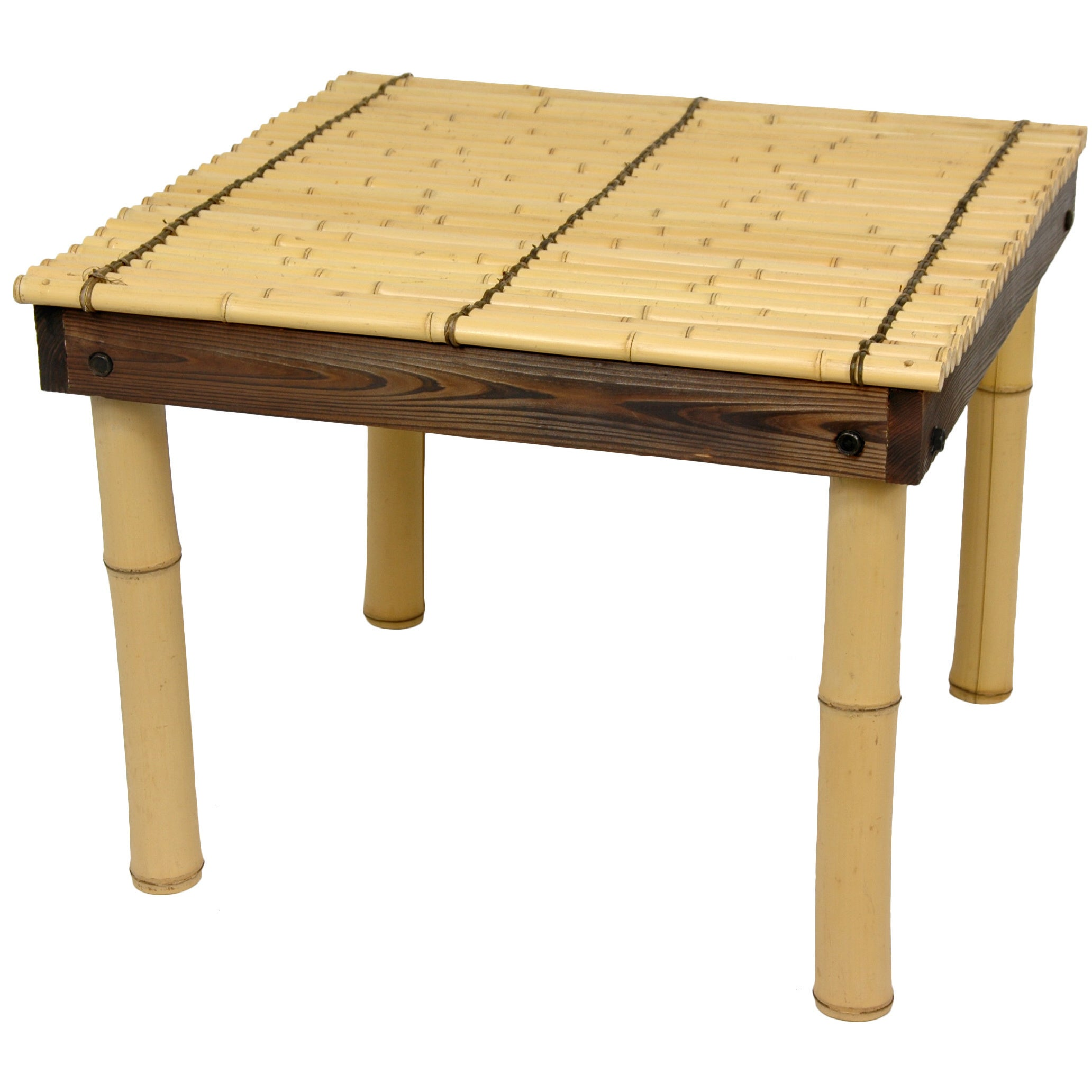 Attirant Zen Bamboo Coffee Table With Four Stools (China)   Free Shipping Today    Overstock.com   14197622