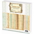 Prima Flowers 'Ledger' 12-inch Square Paper Stack (48 Sheets)