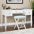 Maison Rouge Darley White 3-drawer Writing Desk