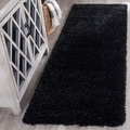 Safavieh California Cozy Plush Black Shag Rug (2'3 x 9')