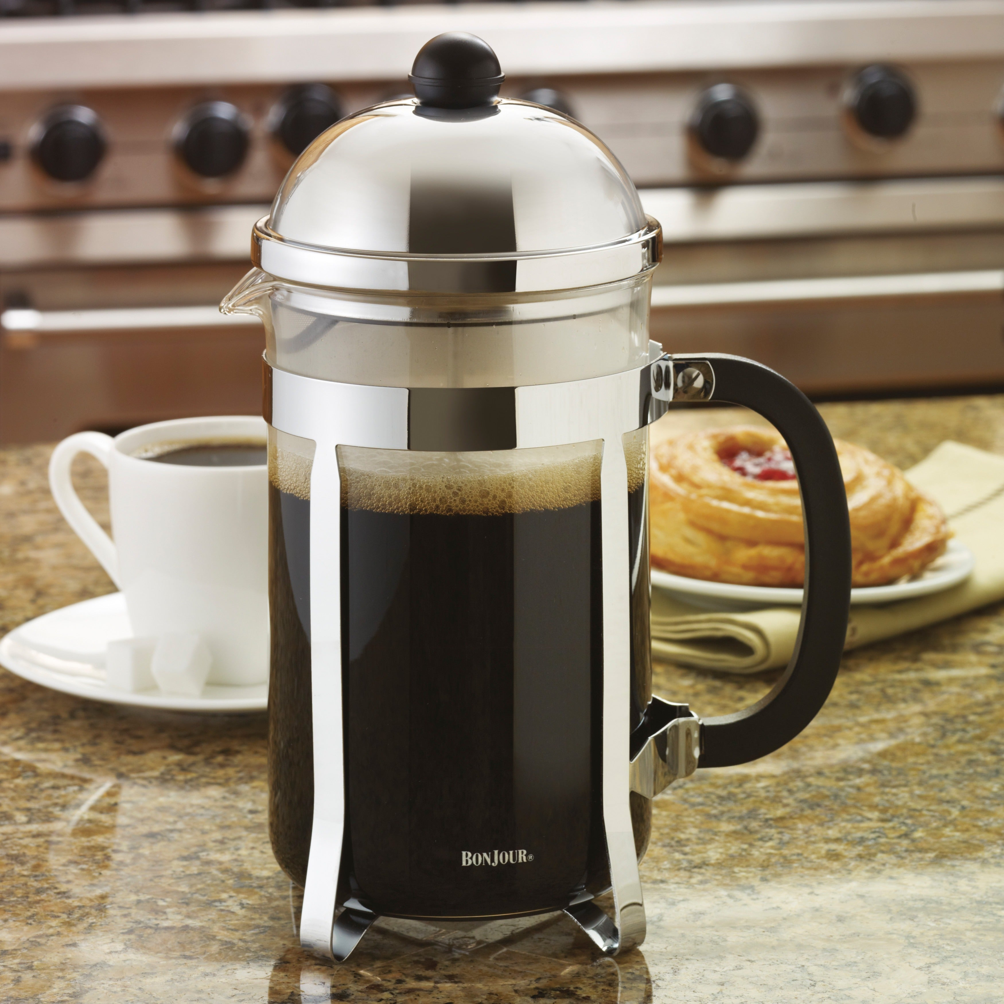 Bonjour Coffee And Tea 12 Cup Monet French Press Free Shipping Today 6655118