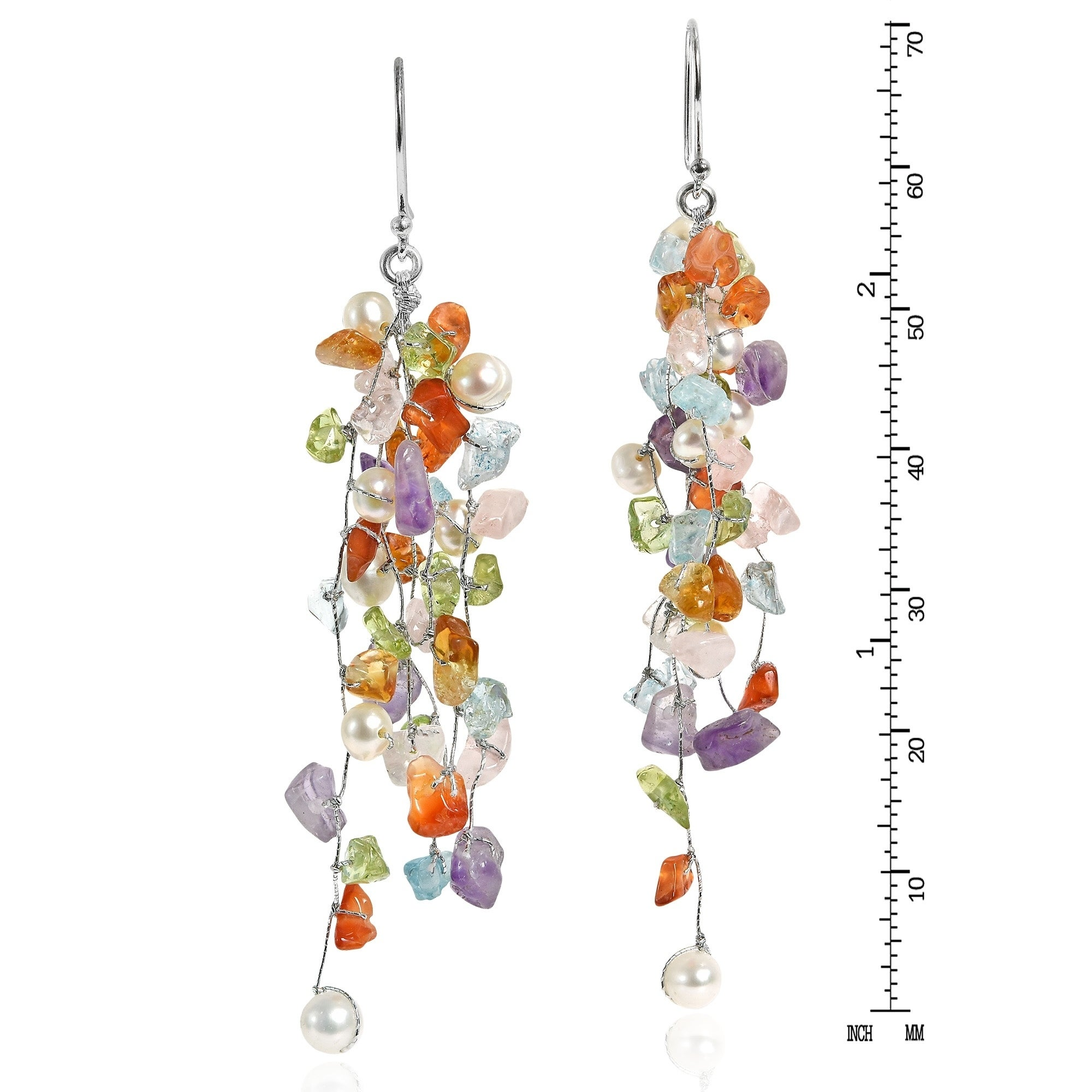 handmade maxi en earrings earring jewelry with coolt tassel colorful crystals jewellery