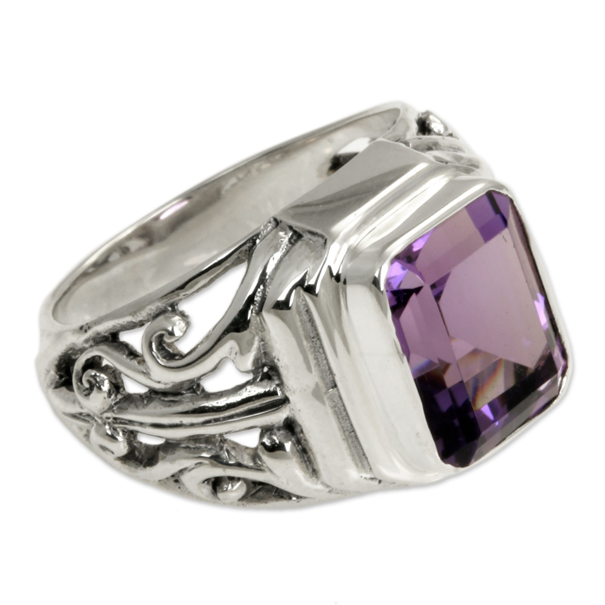 in shades amethyst cocktail ring of big lilac img stone three amethist bold and lavender cut products rings statement emerald engagement