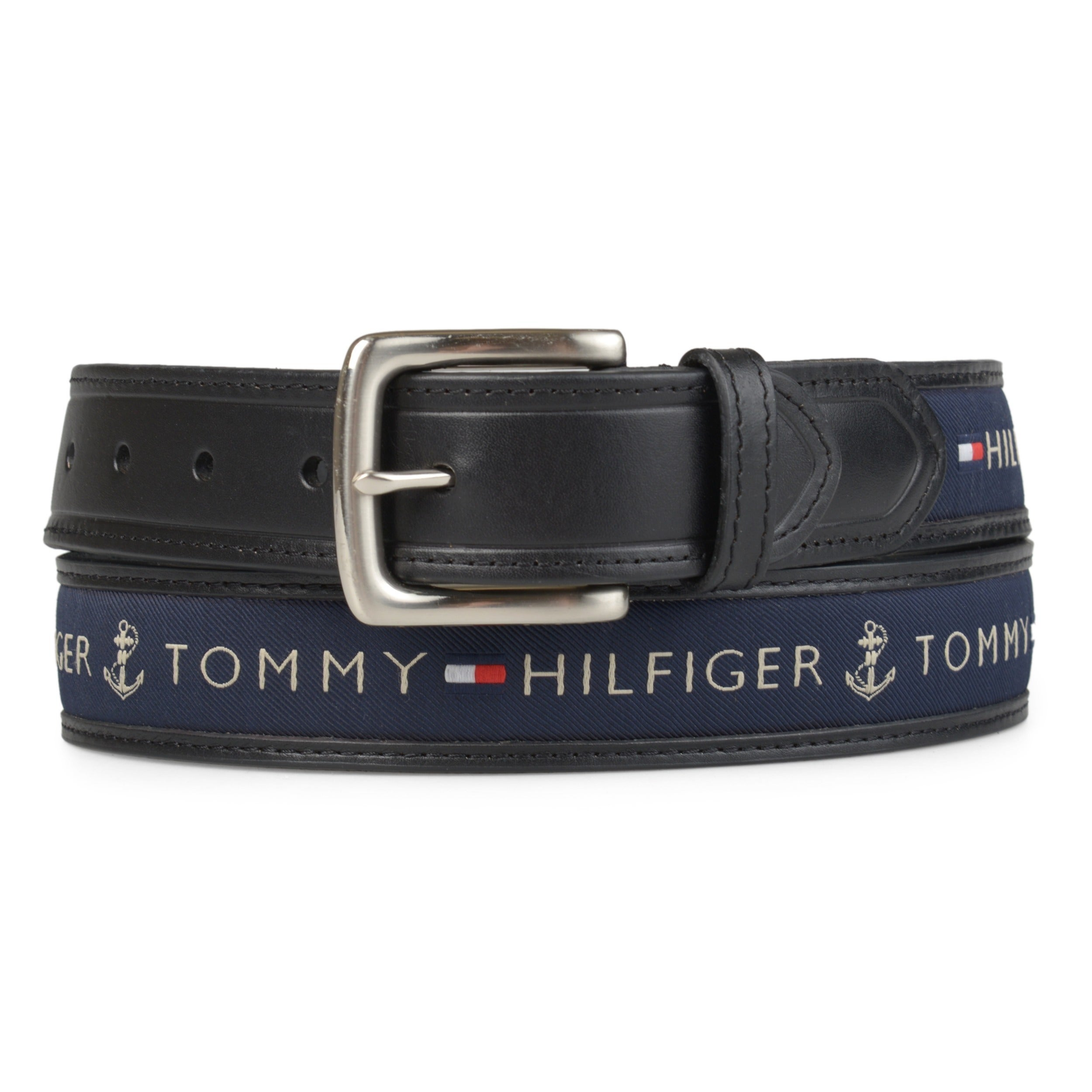 ae68b8d8 Shop Tommy Hilfiger Men's Topstitched Leather Belt - Free Shipping ...