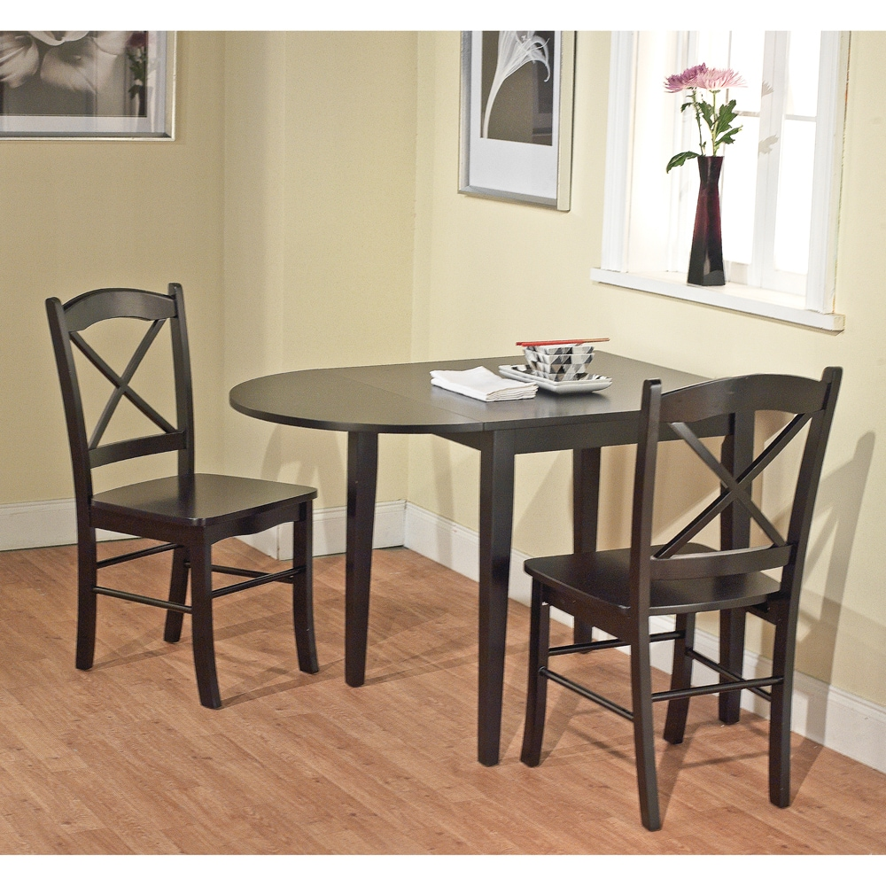 Simple Living Country Cottage Black Drop Leaf Dining Table - Free Shipping  Today - Overstock.com - 14226994
