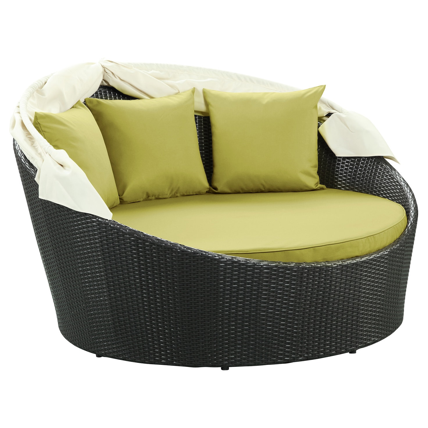 Shop Siesta Outdoor Rattan Canopy Bed - On Sale - Free Shipping Today -  Overstock.com - 6671012 - Shop Siesta Outdoor Rattan Canopy Bed - On Sale - Free Shipping