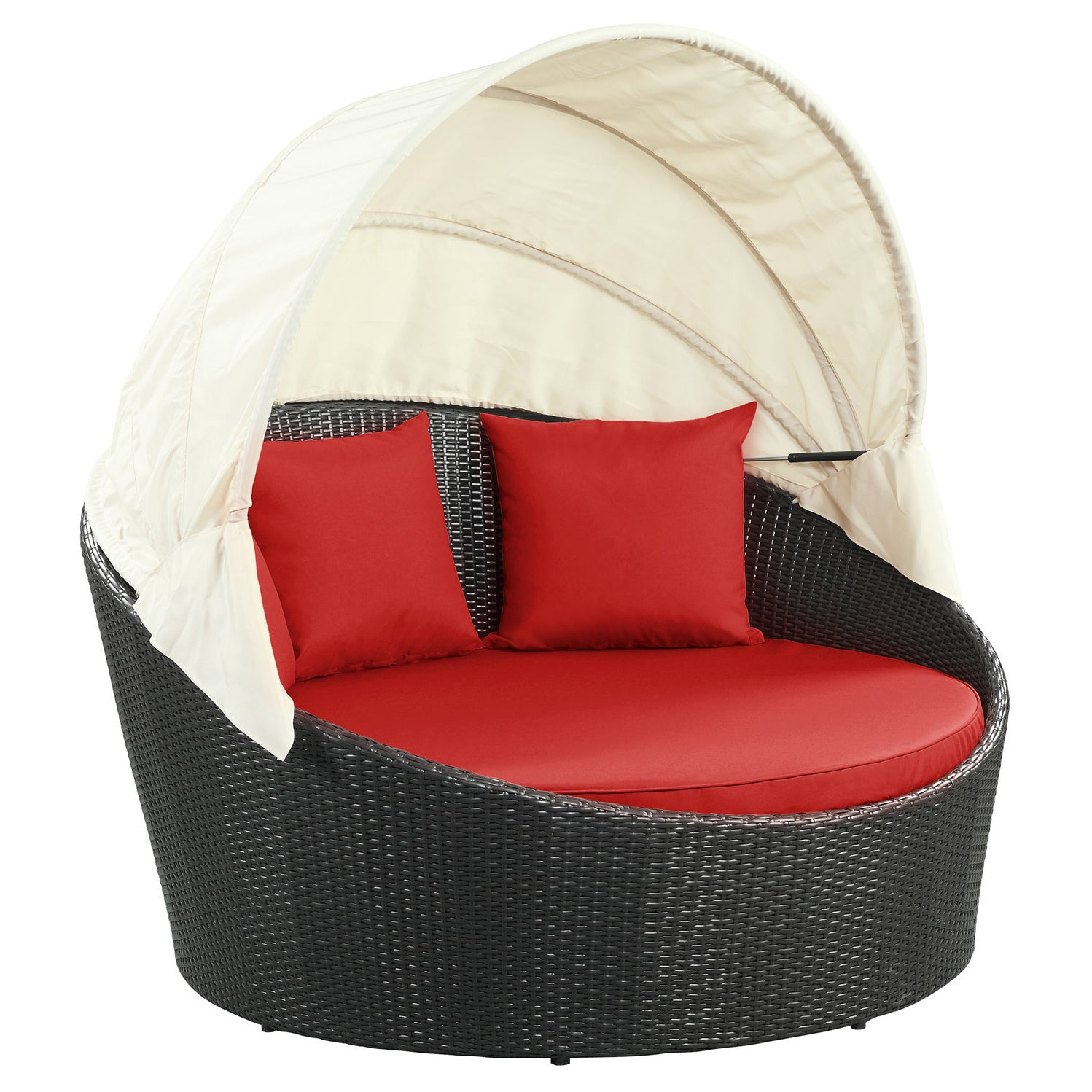 Siesta Outdoor Rattan Canopy Bed   Free Shipping Today   Overstock    14228663