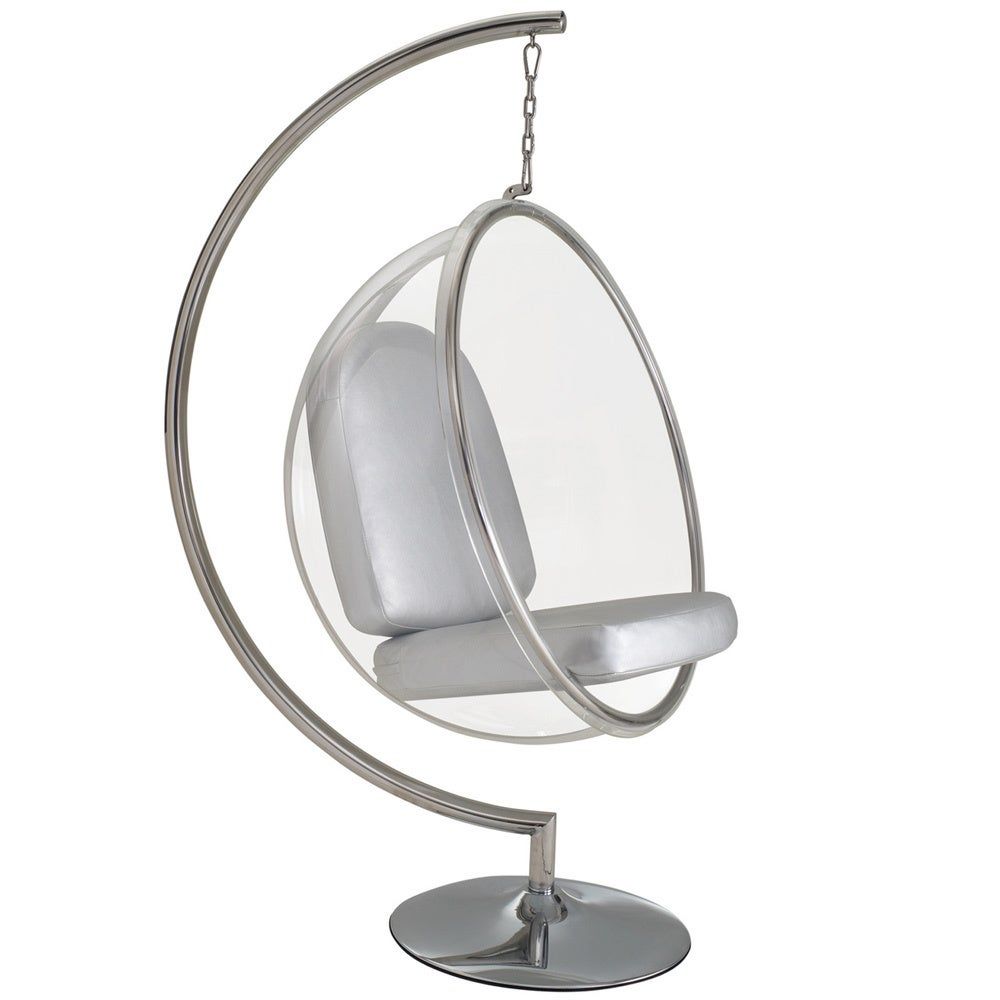 Shop Eero Aarnio Style Bubble Chair With Cushion   On Sale   Free Shipping  Today   Overstock.com   6672842