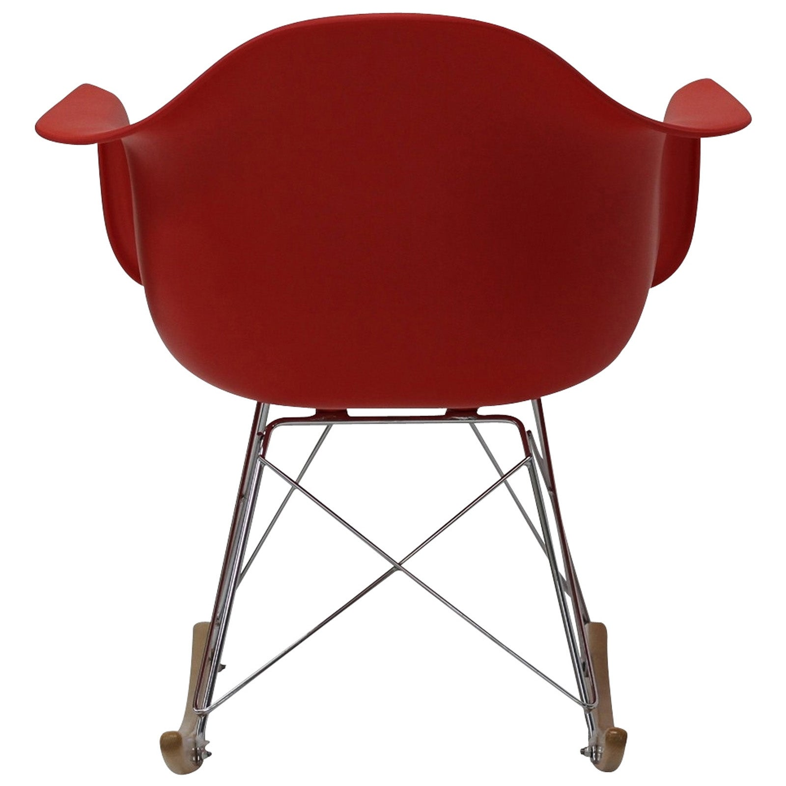 Shop Red Molded Plastic Armchair Rocker In Red   Free Shipping Today    Overstock.com   6673025