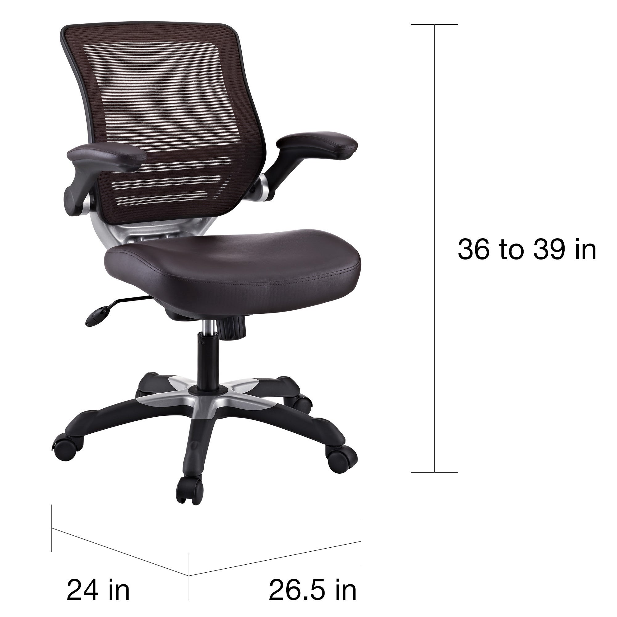 Edge Brown Mesh Back Faux Leather Office Chair Free Shipping Today 14230325