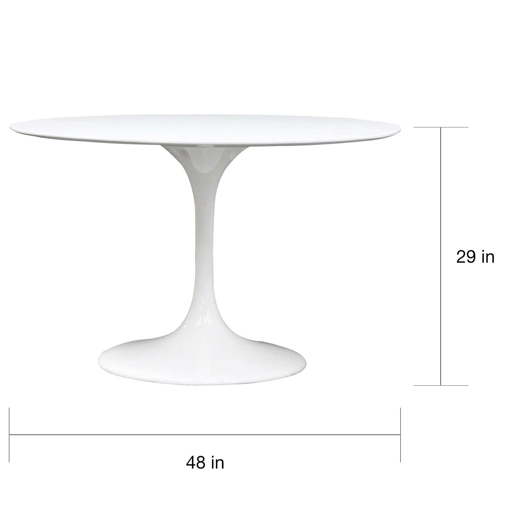 Superb Eero Saarinen Style 48 Inch White Tulip Dining Table   Free Shipping Today    Overstock.com   14230619