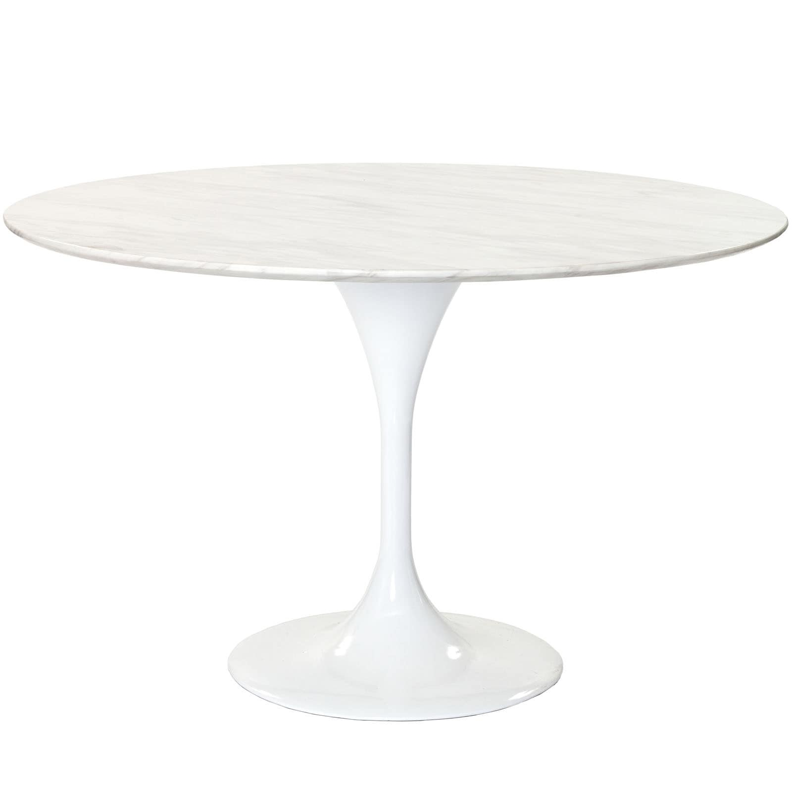 Lovely Shop Eero Saarinen Reproduction 48 Inch White Marble Tulip Dining Table    On Sale   Free Shipping Today   Overstock.com   6677342