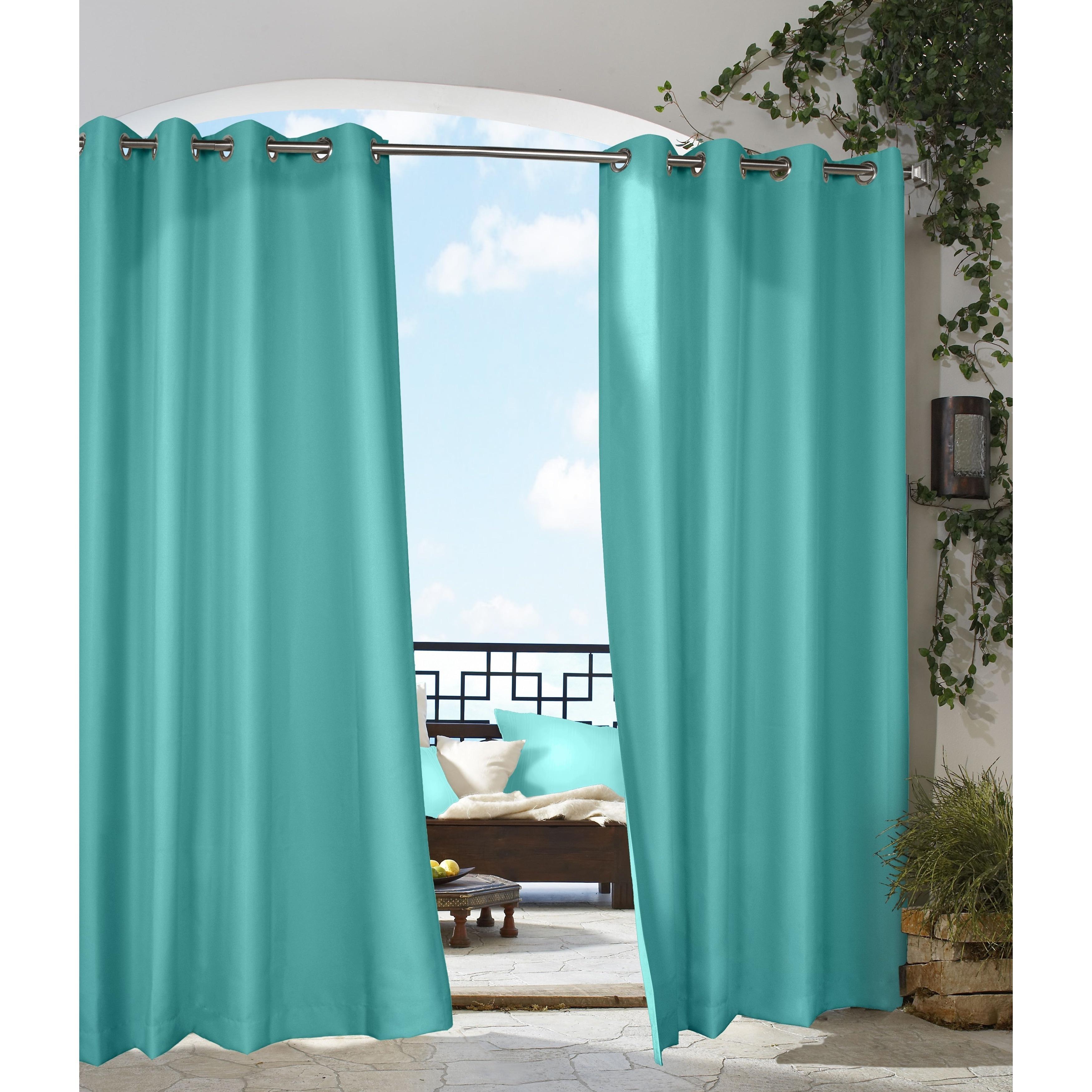 Gazebo Indoor/ Outdoor Grommet Top Curtain Panel - Free Shipping On Orders  Over $45 - Overstock.com - 14234349