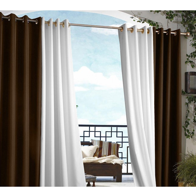 Shop Gazebo Indoor Outdoor Grommet Top Curtain Panel On Sale