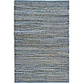 Hand Woven Blue Jeans Rug (8' x 10')