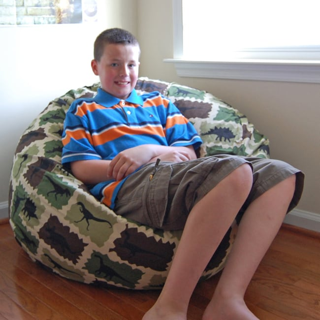 Shop Ahh Products Camouflage Dinosaurs Cotton Washable Bean Bag Chair    Free Shipping Today   Overstock.com   6689544