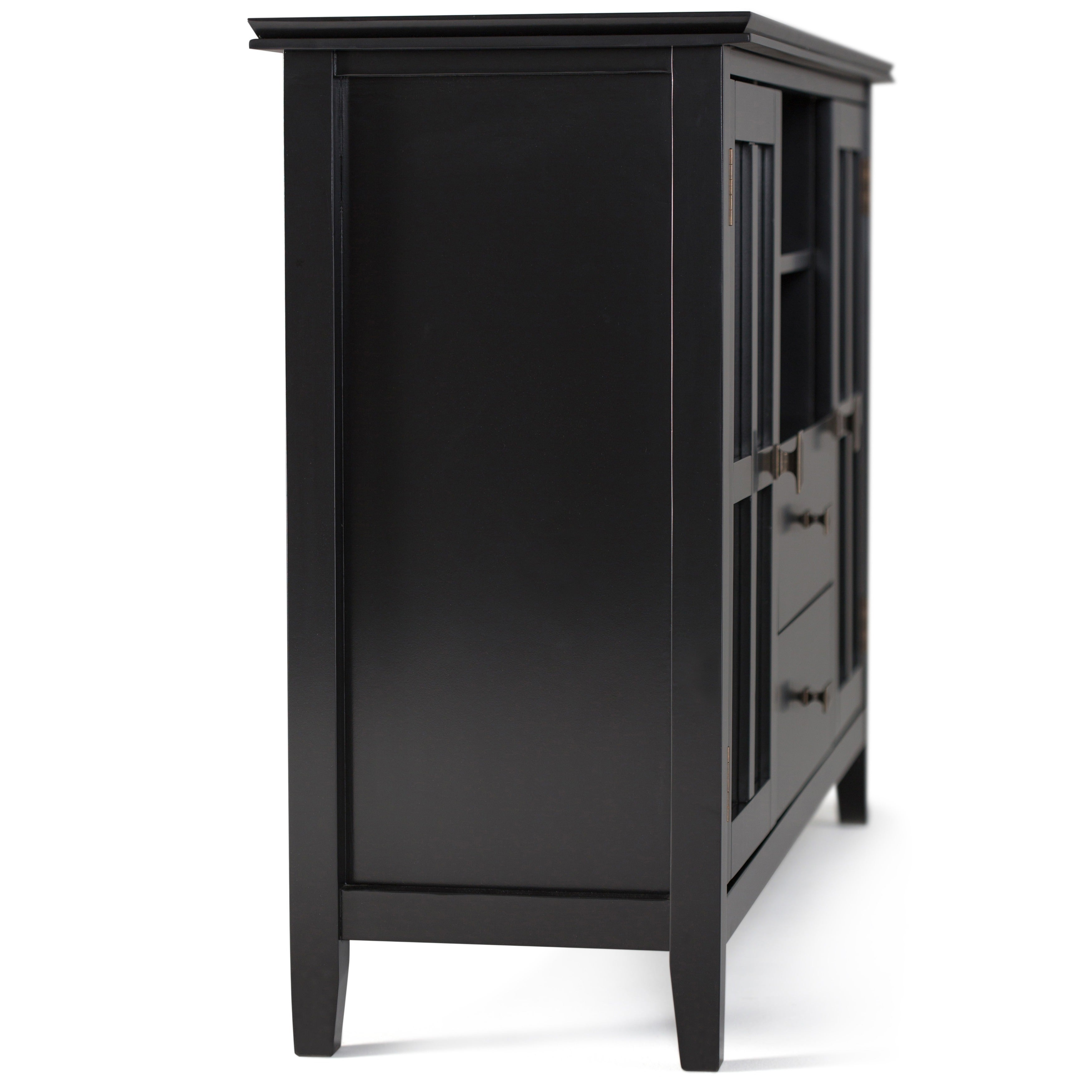 Beautiful WYNDENHALL Stratford Tall TV Stand For TVu0027s Up To 60 Inches   Free Shipping  Today   Overstock.com   14254886