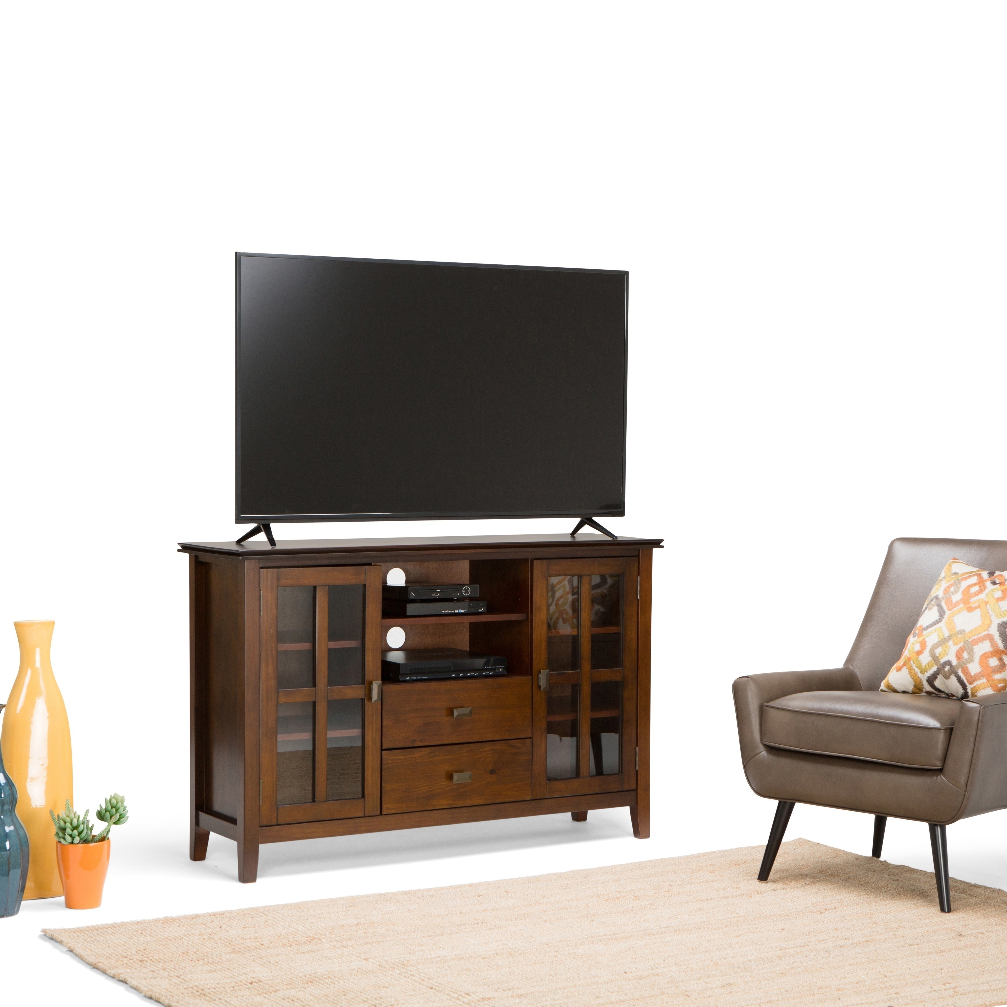 Shop Wyndenhall Stratford Tall Tv Stand For Tv S Up To 60 Inches