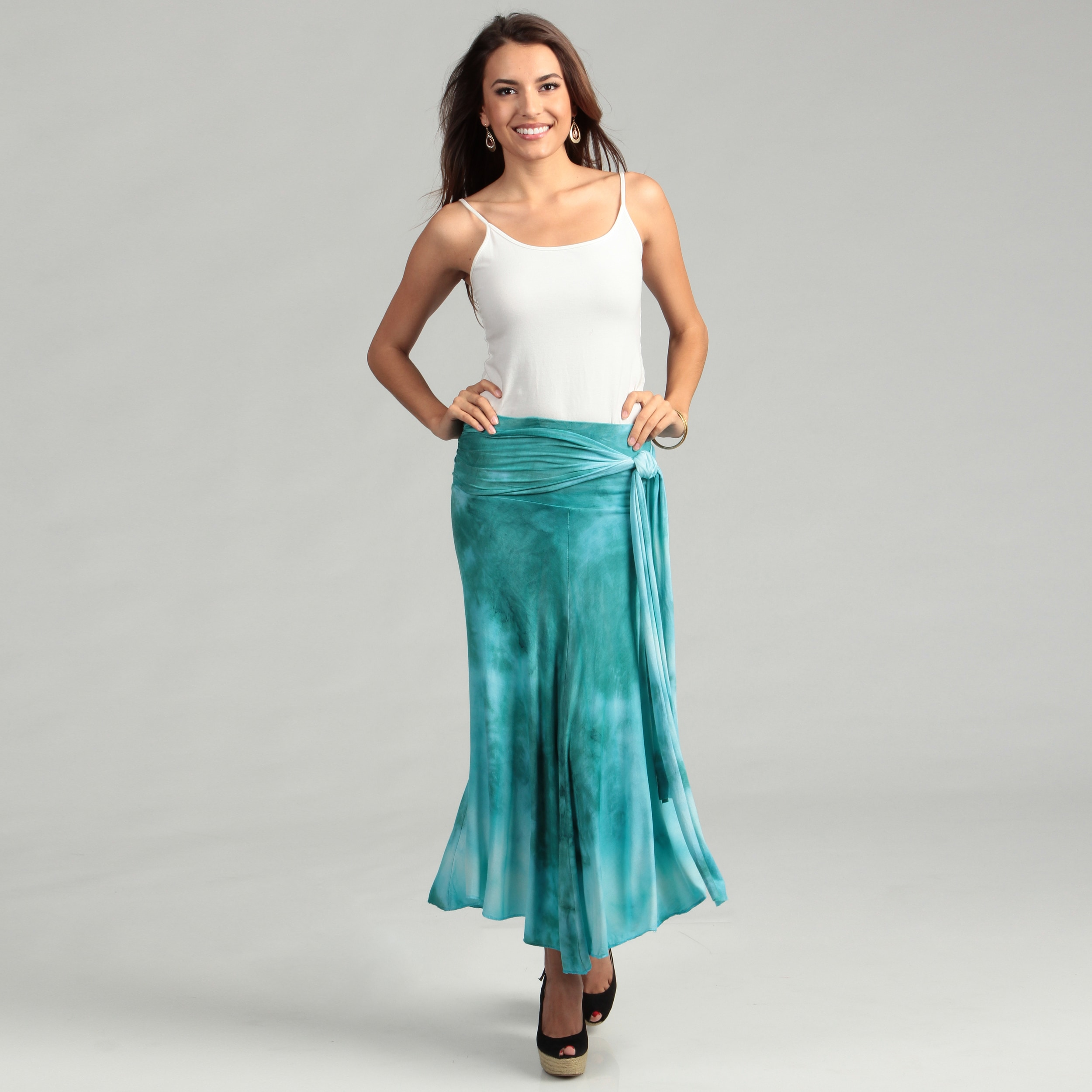 2e6cdb3402 Shop Elan Women's Aqua Tie-dye Convertible 8-way Dress/ Skirt - Free  Shipping On Orders Over $45 - Overstock - 6707205