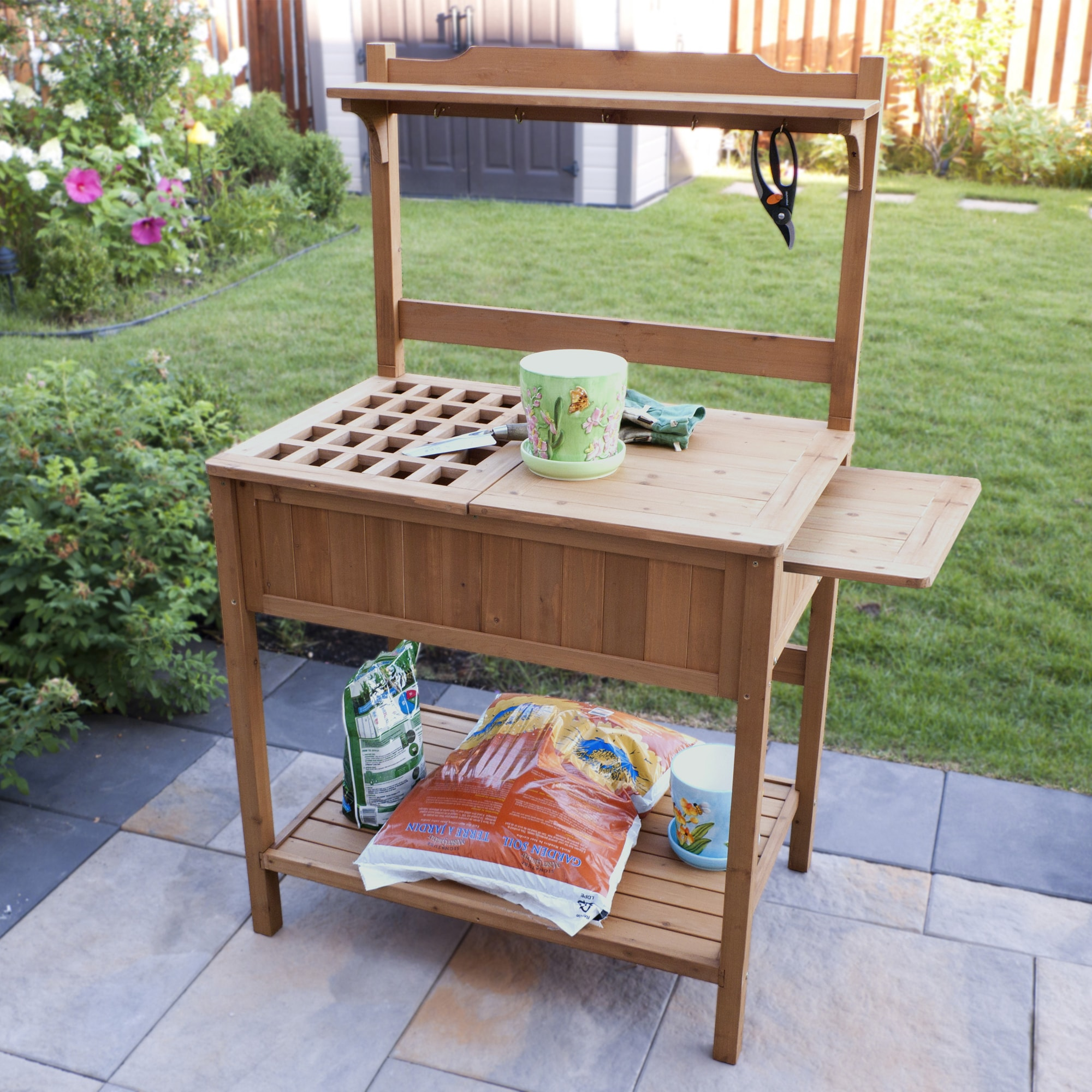 aldi gardenline table p a uk potting bench
