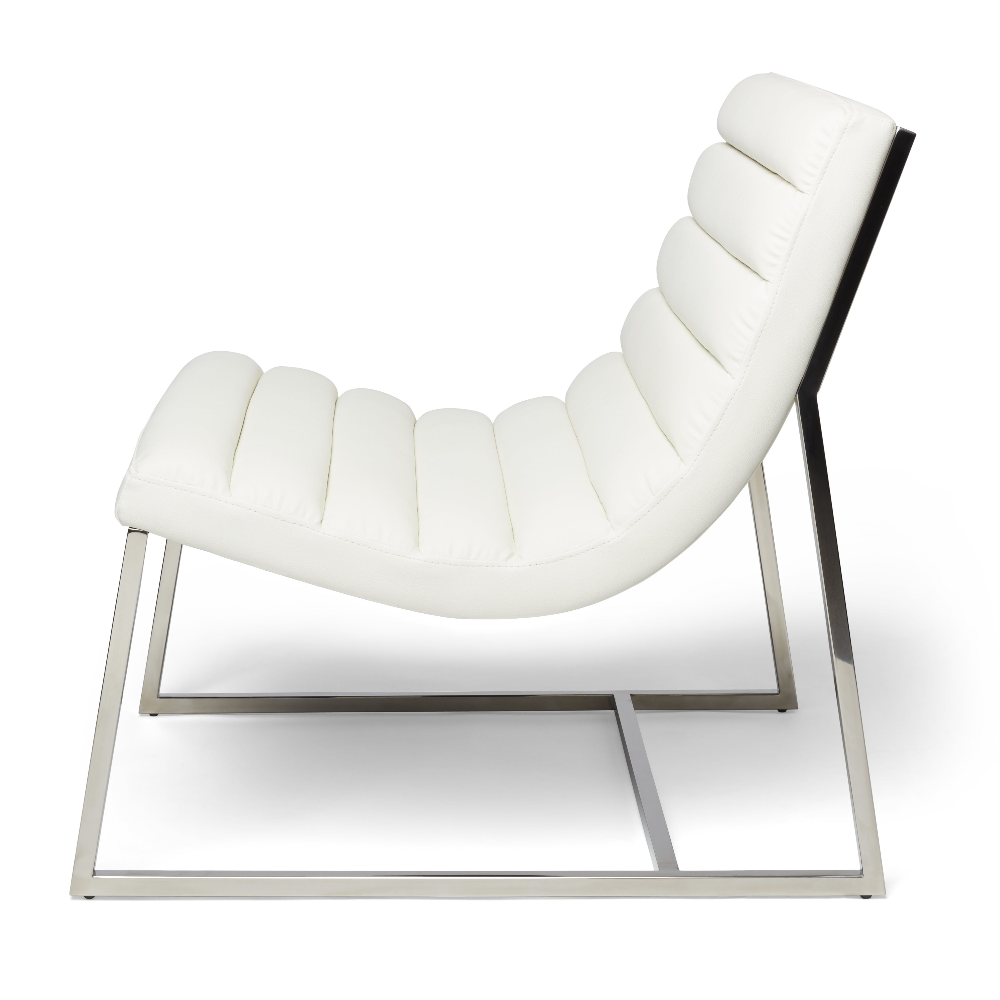 Parisian White Leather Sofa Chair By Christopher Knight Home  ~ Unique White Leather Sofa