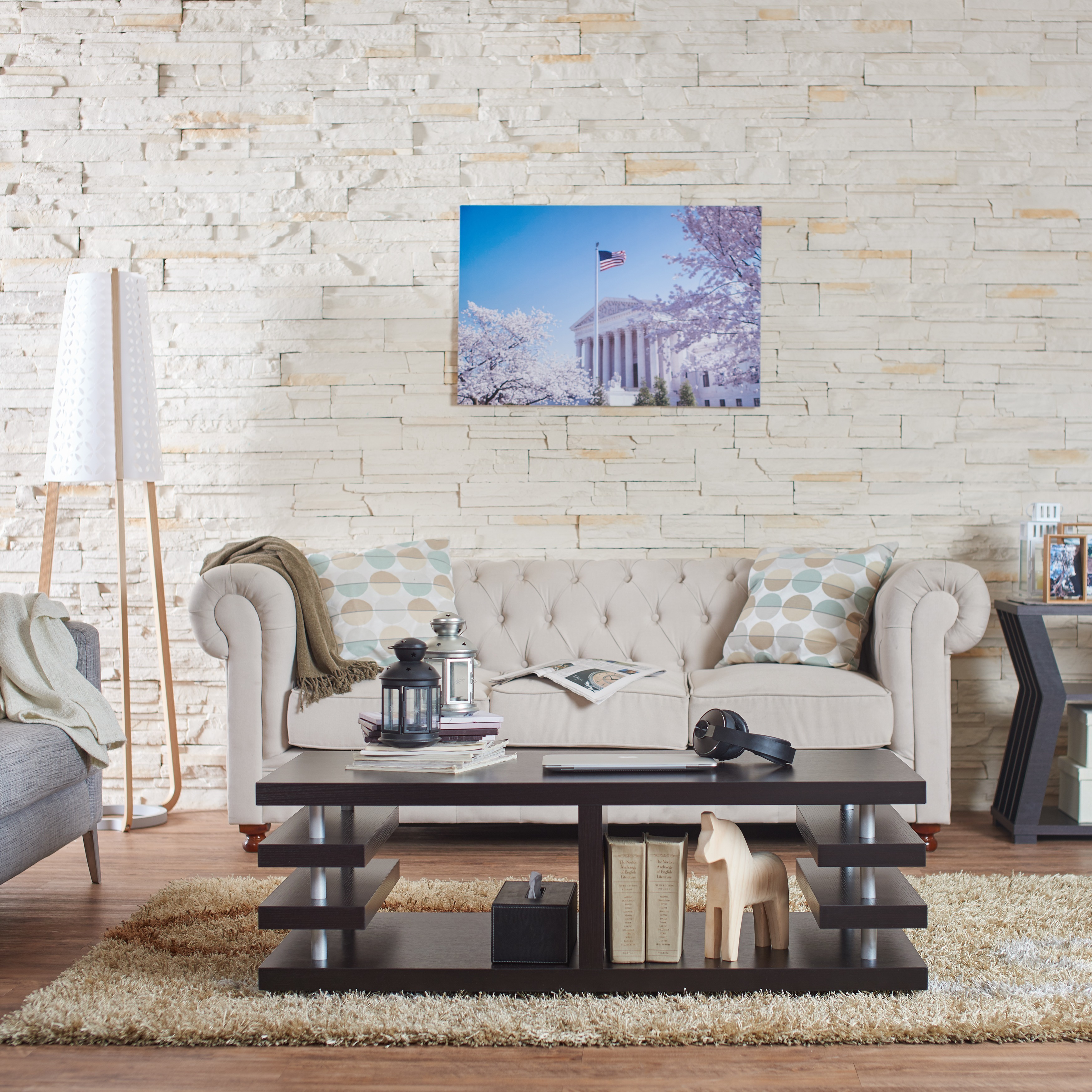 Furniture Of America Architectural Dark Espresso Inspired Coffee Table Free Shipping Today 6713755