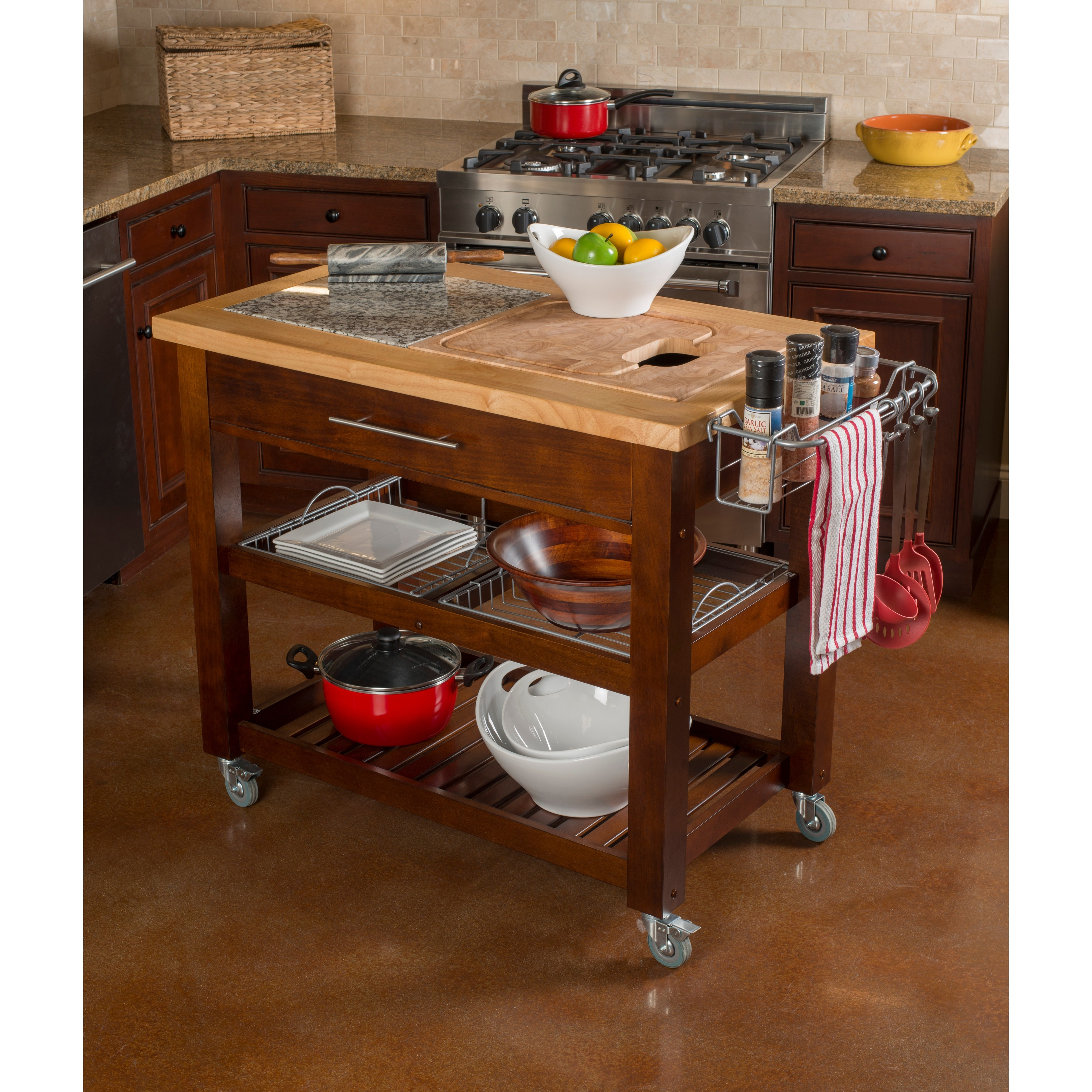 Ordinaire Shop Chris U0026 Chris 24 X 40 Pro Chef Espresso Kitchen Work Station   On Sale    Free Shipping Today   Overstock.com   6716102