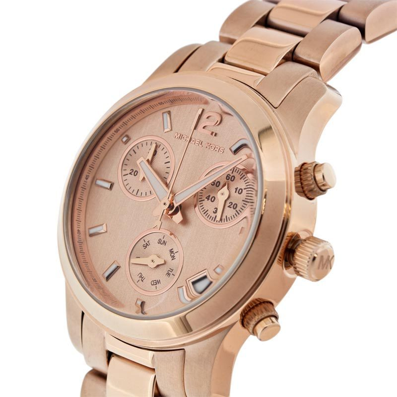 ffb631c7f5a3 Shop Michael Kors Women s MK5430 Rose Gold Chronograph Watch - Free  Shipping Today - Overstock - 6722329