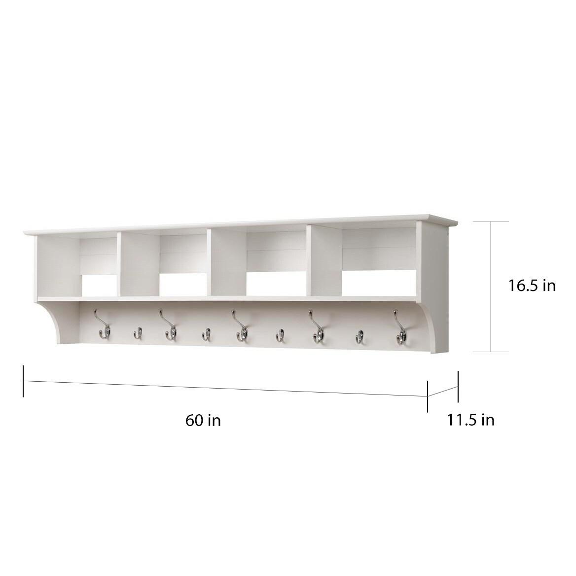 Shop Winslow White Hanging 60 Inch Wide Entryway Shelf Free