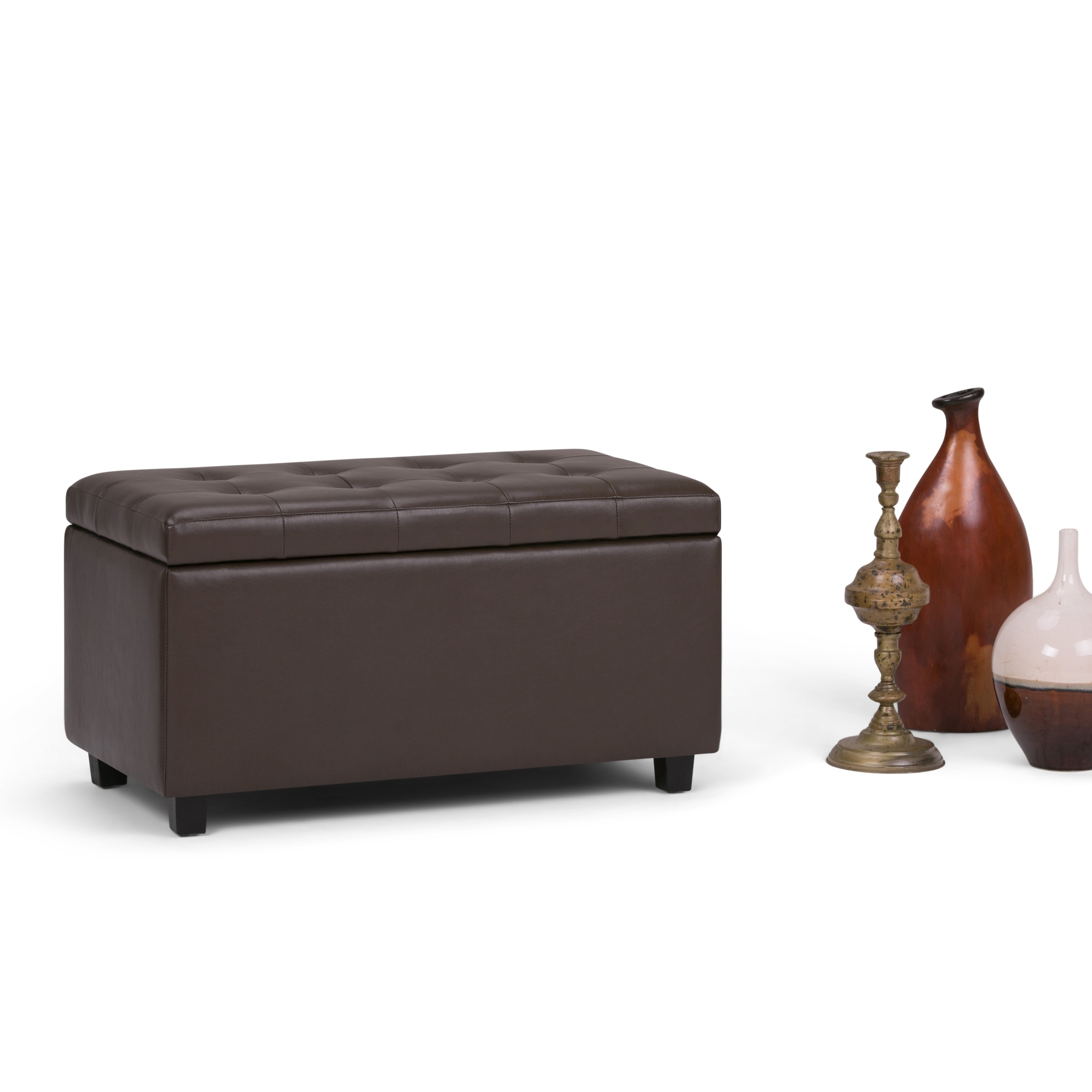 Ordinaire Shop WYNDENHALL Essex Faux Leather Storage Ottoman Bench   On Sale   Free  Shipping Today   Overstock.com   6727554