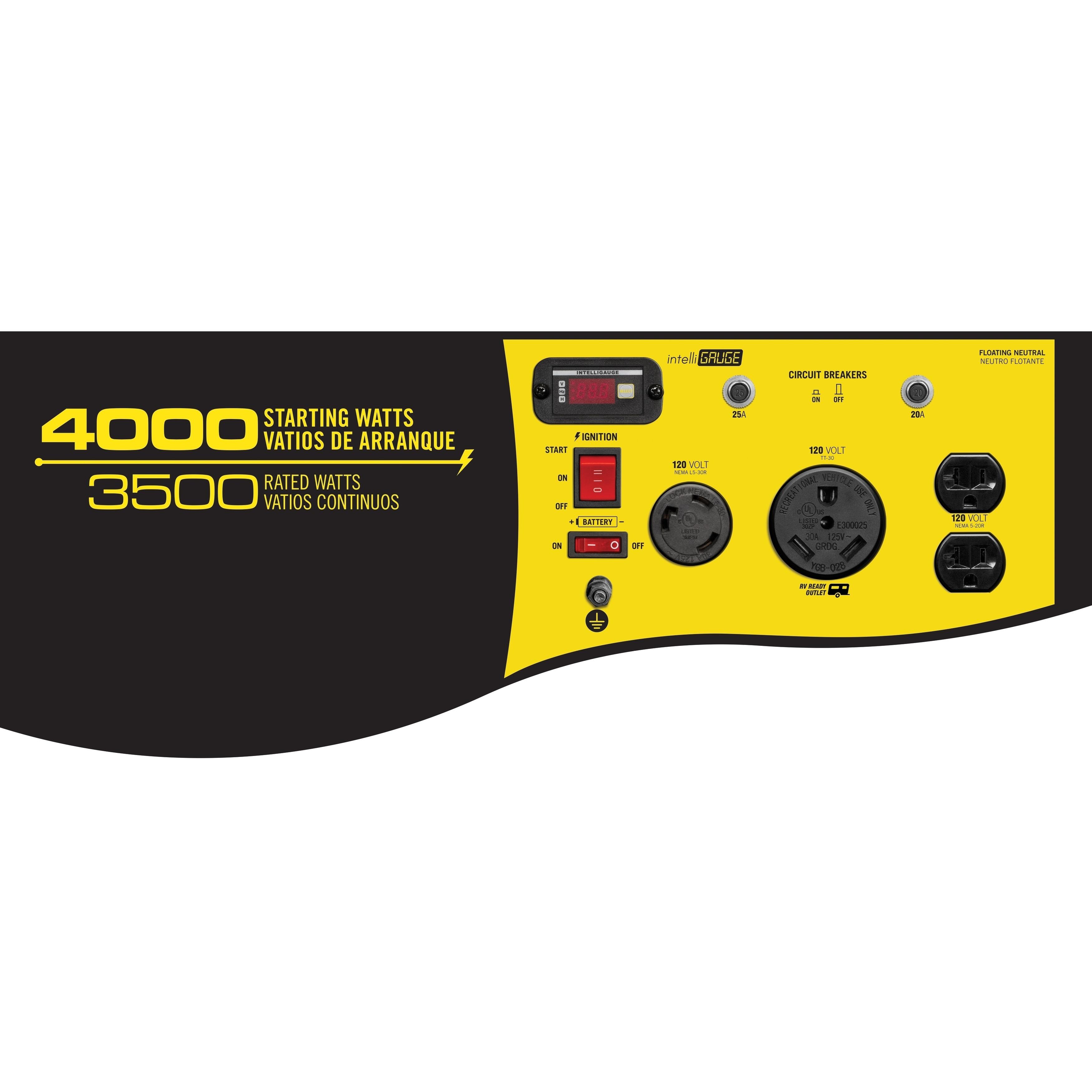 Shop Champion 3500 Watt Rv Ready Portable Generator With Wireless Generators Circuit Breaker Remote Start Carb Free Shipping Today 6727609