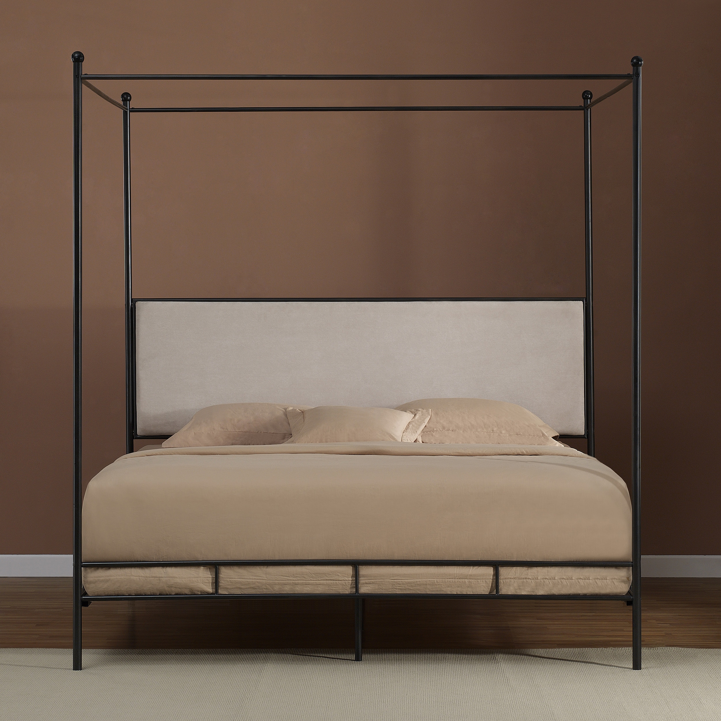 Lauren King Metal Canopy Bed - Free Shipping Today - Overstock.com - 80004622  sc 1 st  Overstock.com & Lauren King Metal Canopy Bed - Free Shipping Today - Overstock.com ...